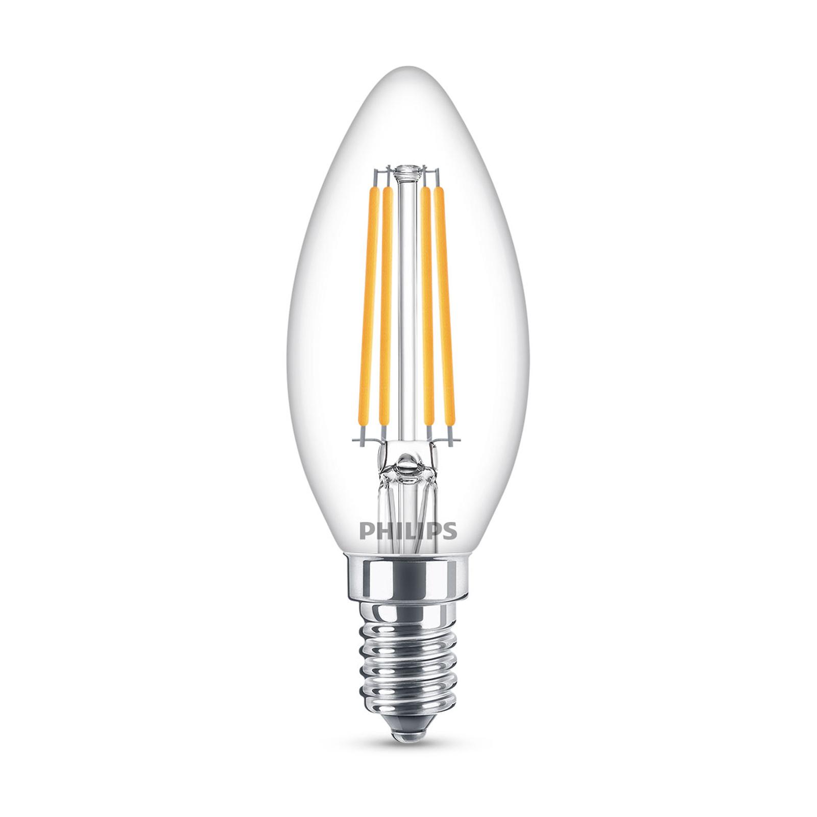 Philips Classic LED-lampa E14 B35 6,5W klar