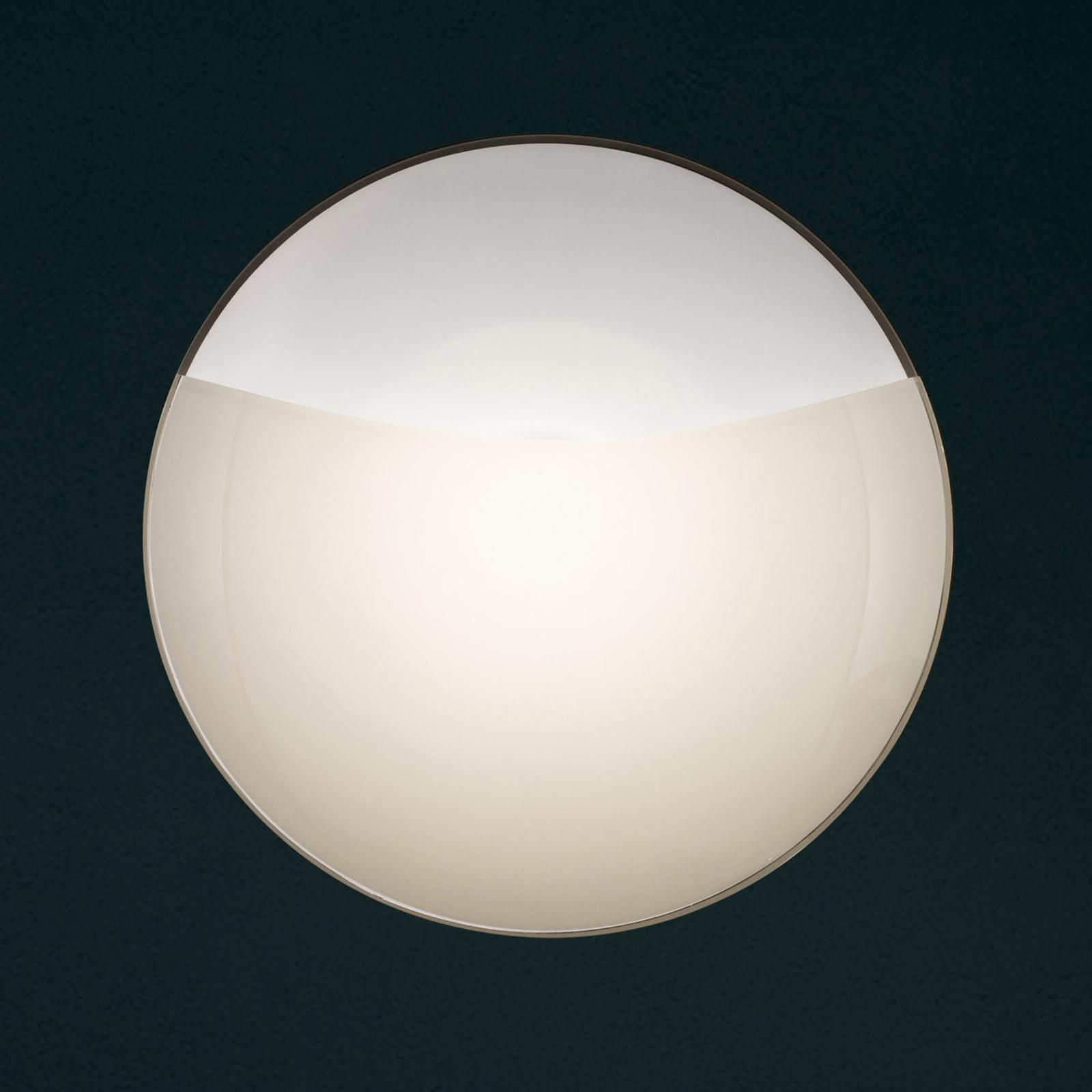 Wandleuchte 1650/A15, weiß matt, Glasabdeckung