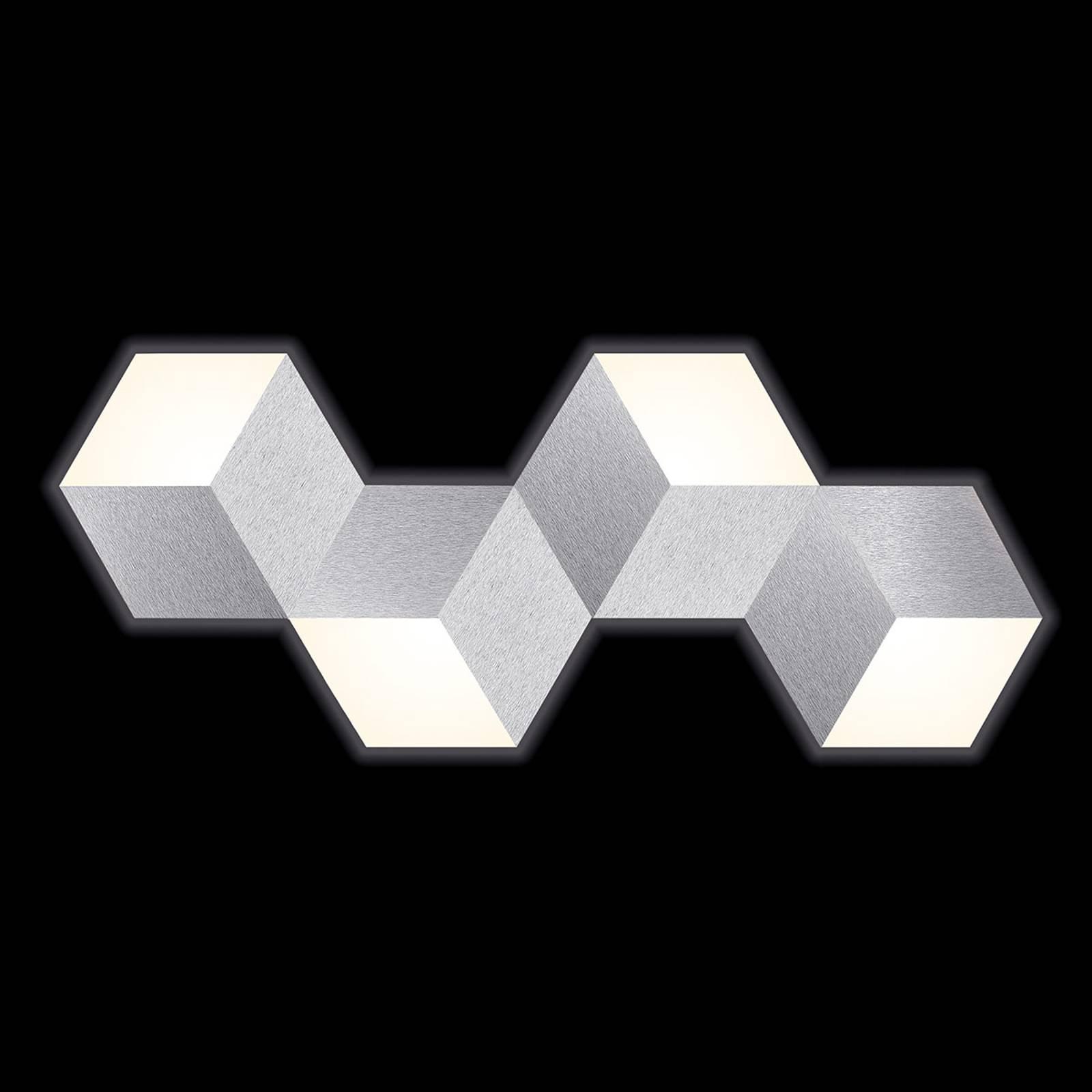 GROSSMANN Geo LED-Wandleuchte in abstrakter Form