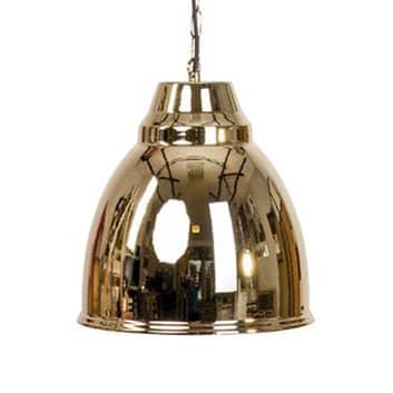 Závěsné světlo Bell s kovovým stínidlem, zlatá