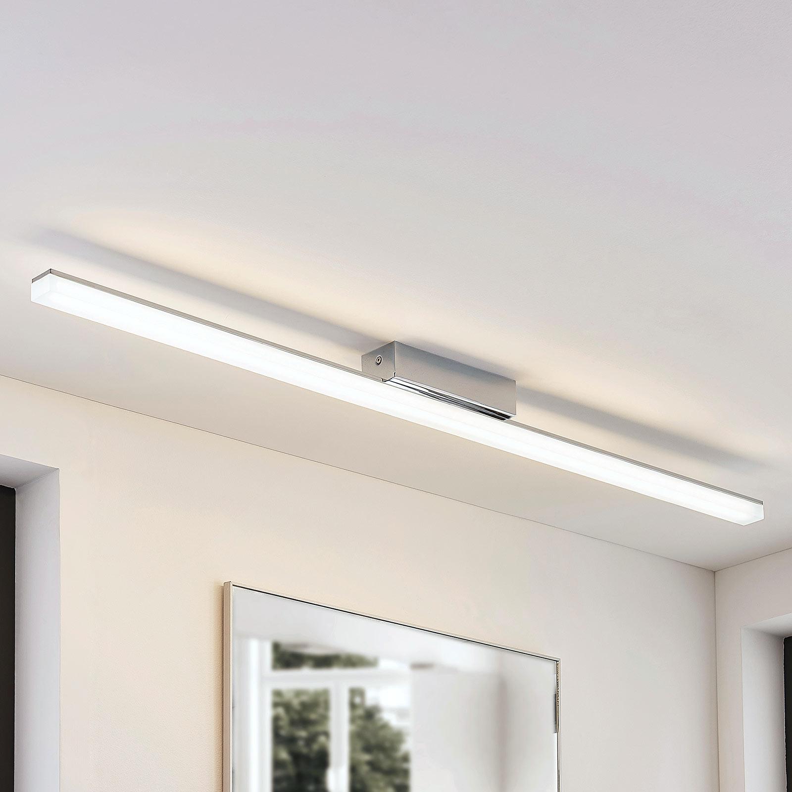 Podłużna lampa sufitowa LED Levke, IP44