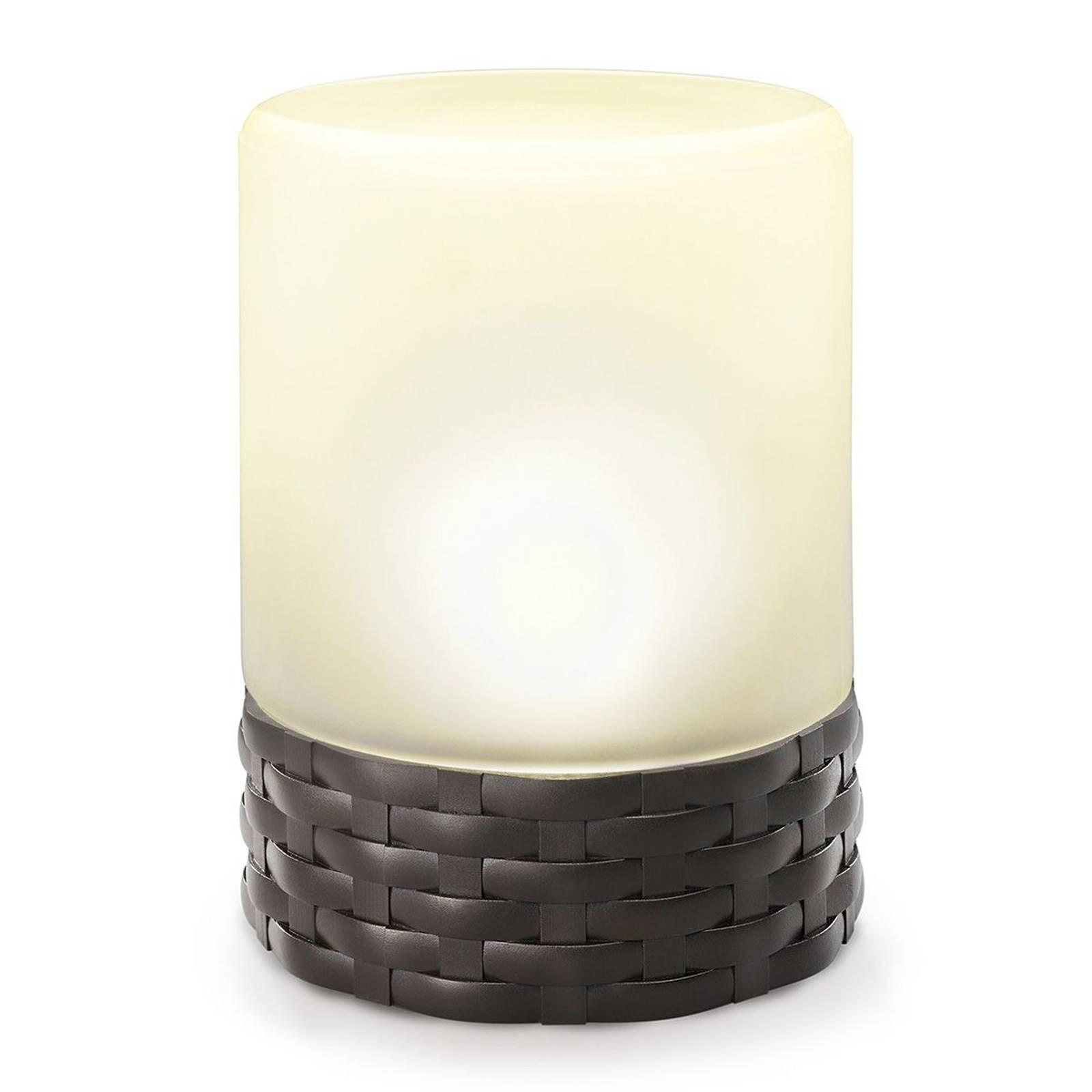 Cloe - LED-Solarleuchte in trendigem Rattan-Style