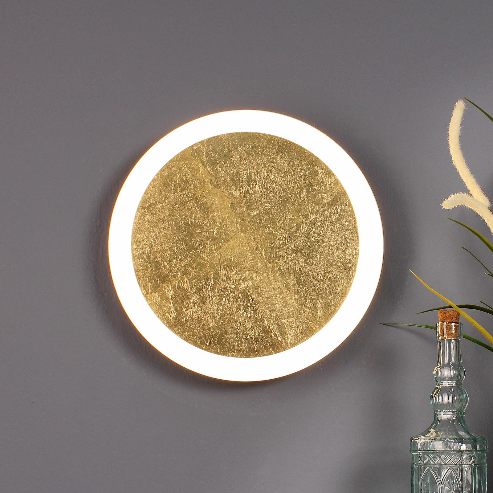 LED-Wandleuchte Moon Ø 30 cm, gold