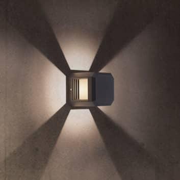 Logone udendørs LED-væglampe, kubisk