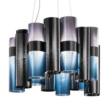 Slamp La Lollo Medium hængelampe blå/røgfarvet