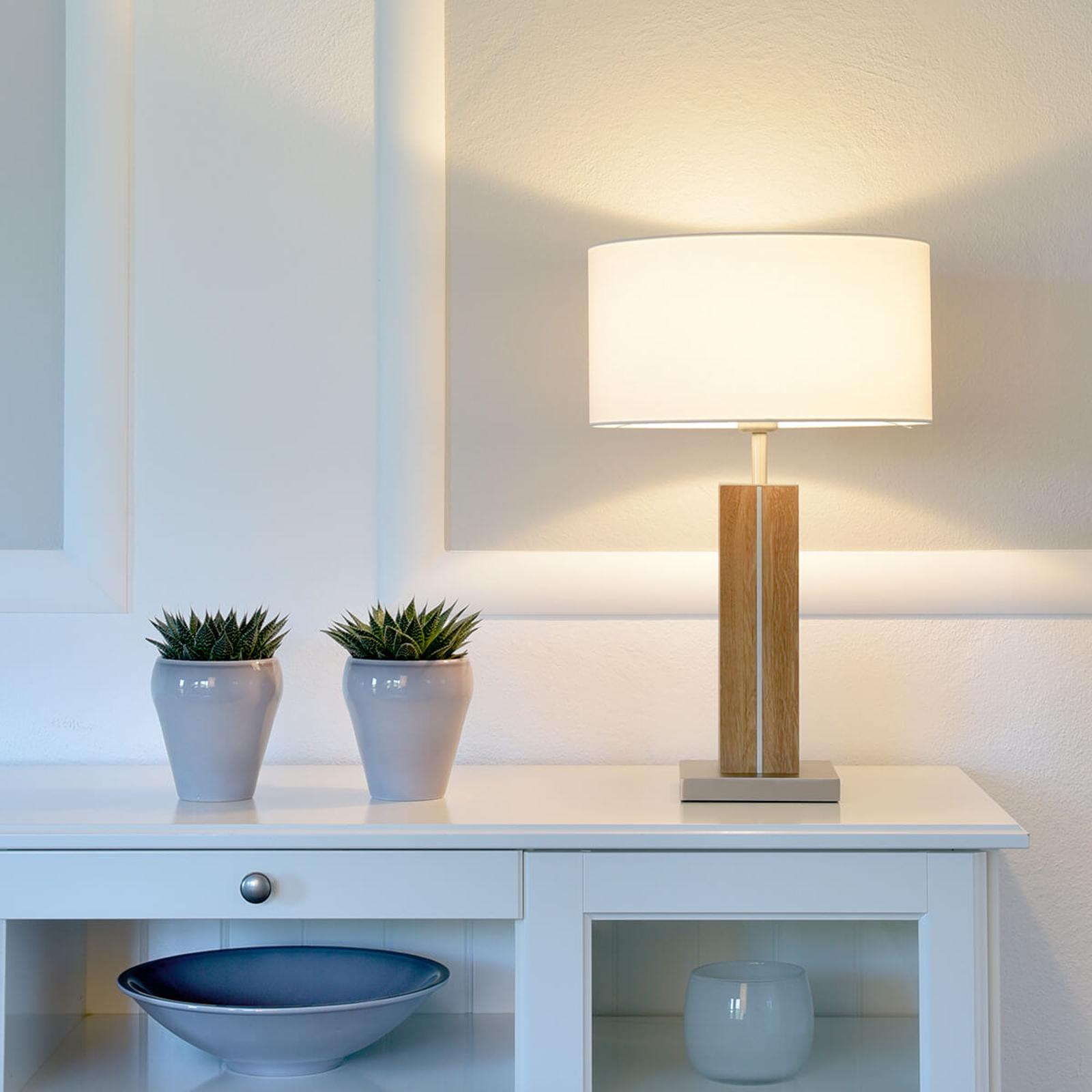Produktové foto HerzBlut HerzBlut Dana stolní lampa, dub olej výška 56 cm