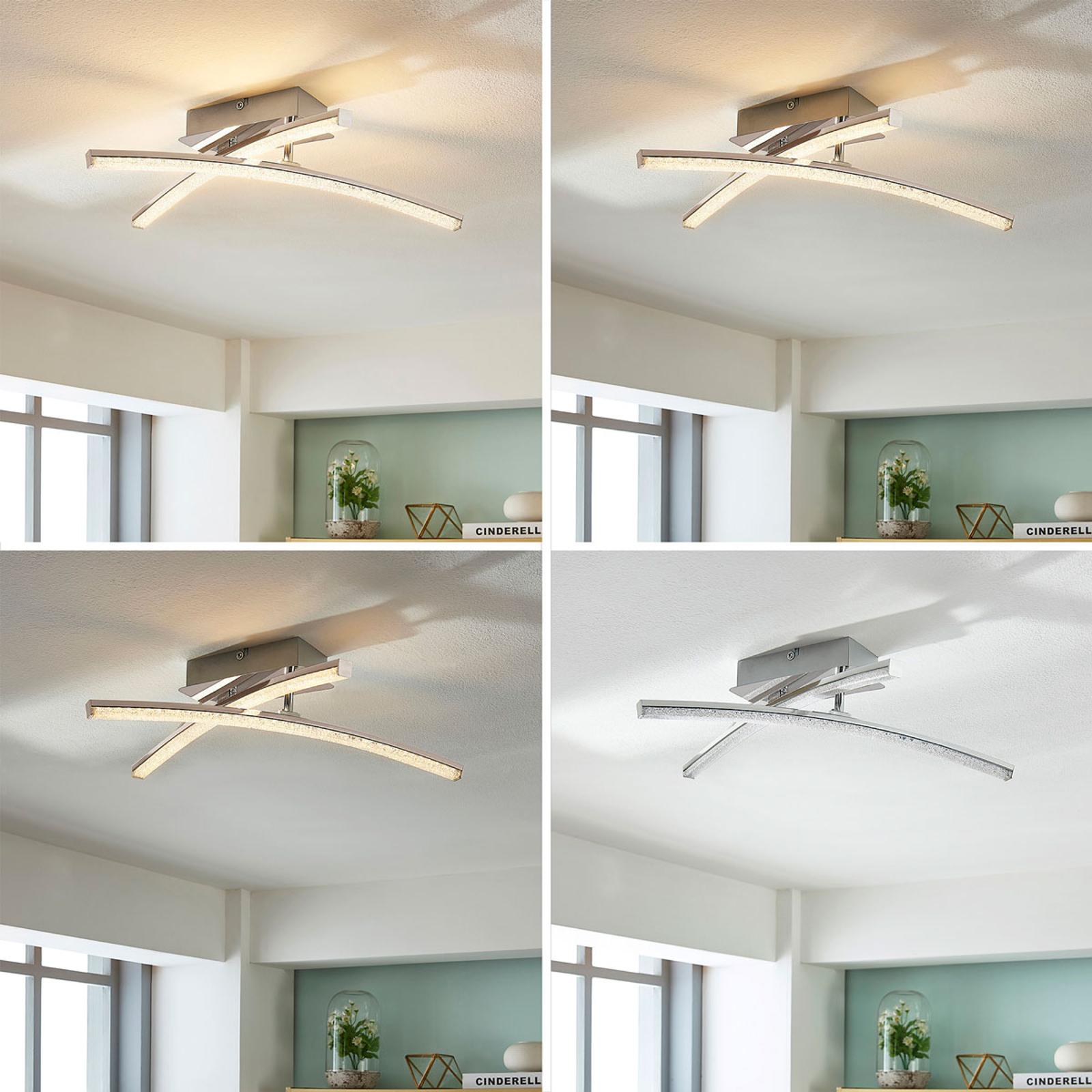Skrårettet LED-taklampe Laurenzia