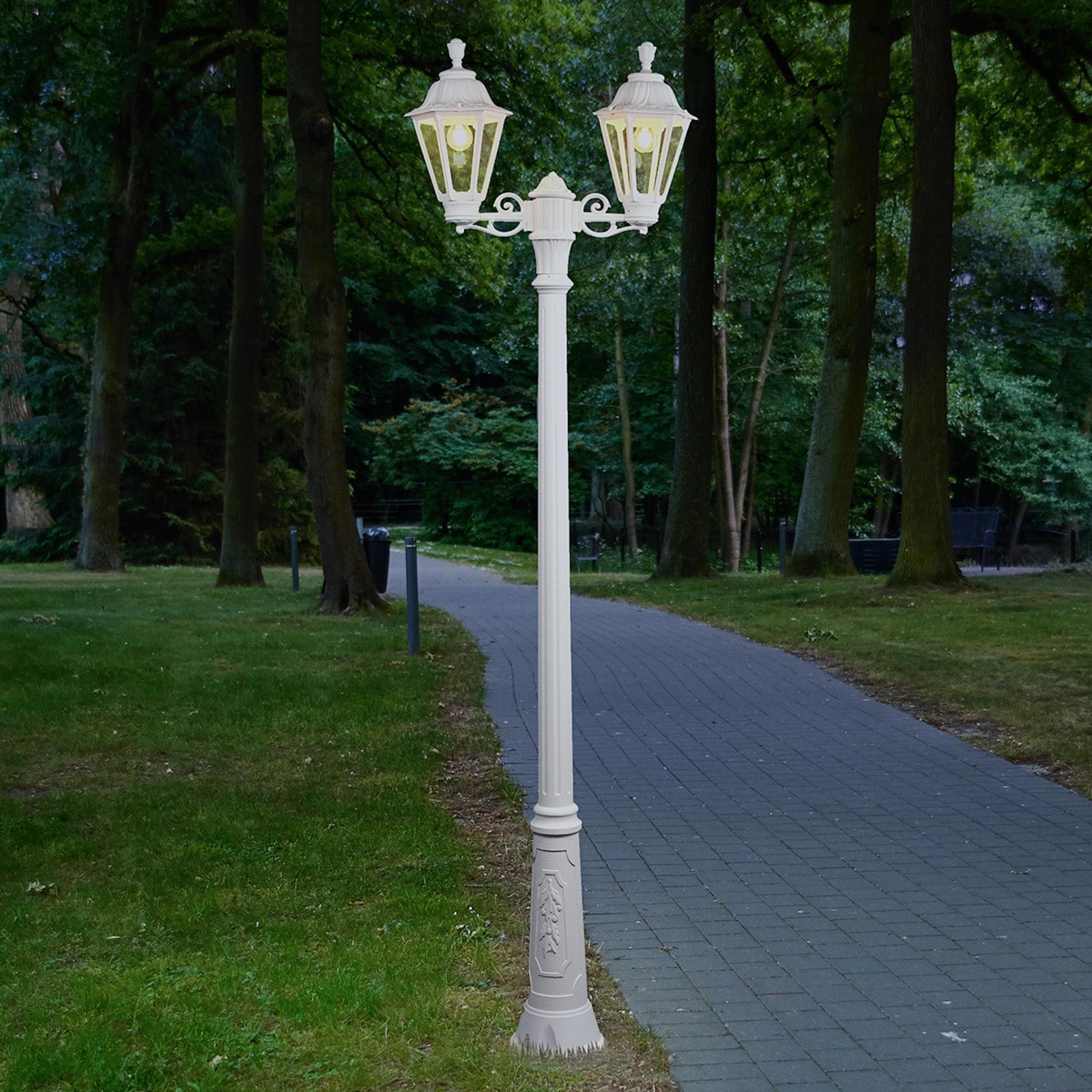 LED-Mastleuchte Artu Rut 2-flammig E27 weiß