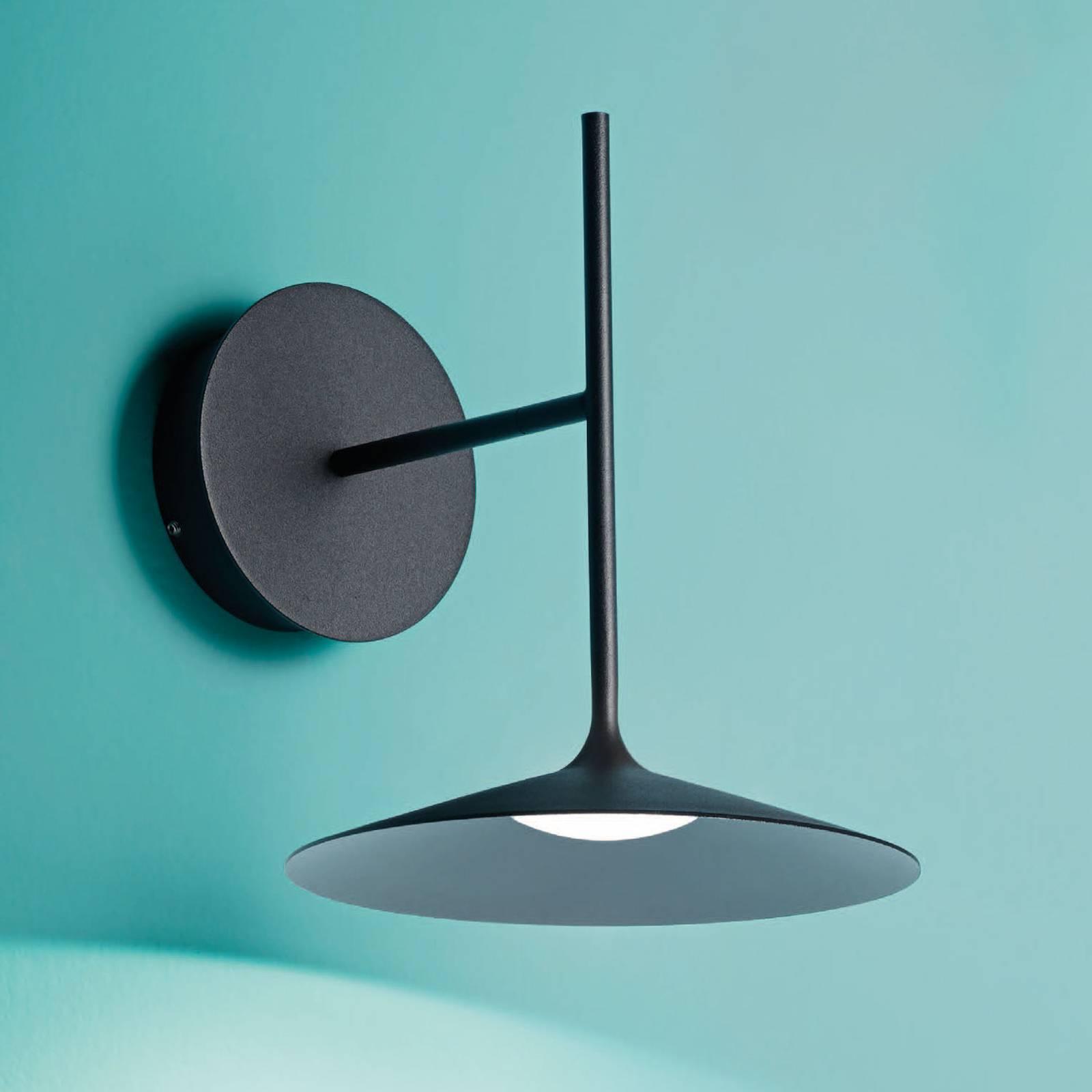 LED wandlamp Poe plus, zwart