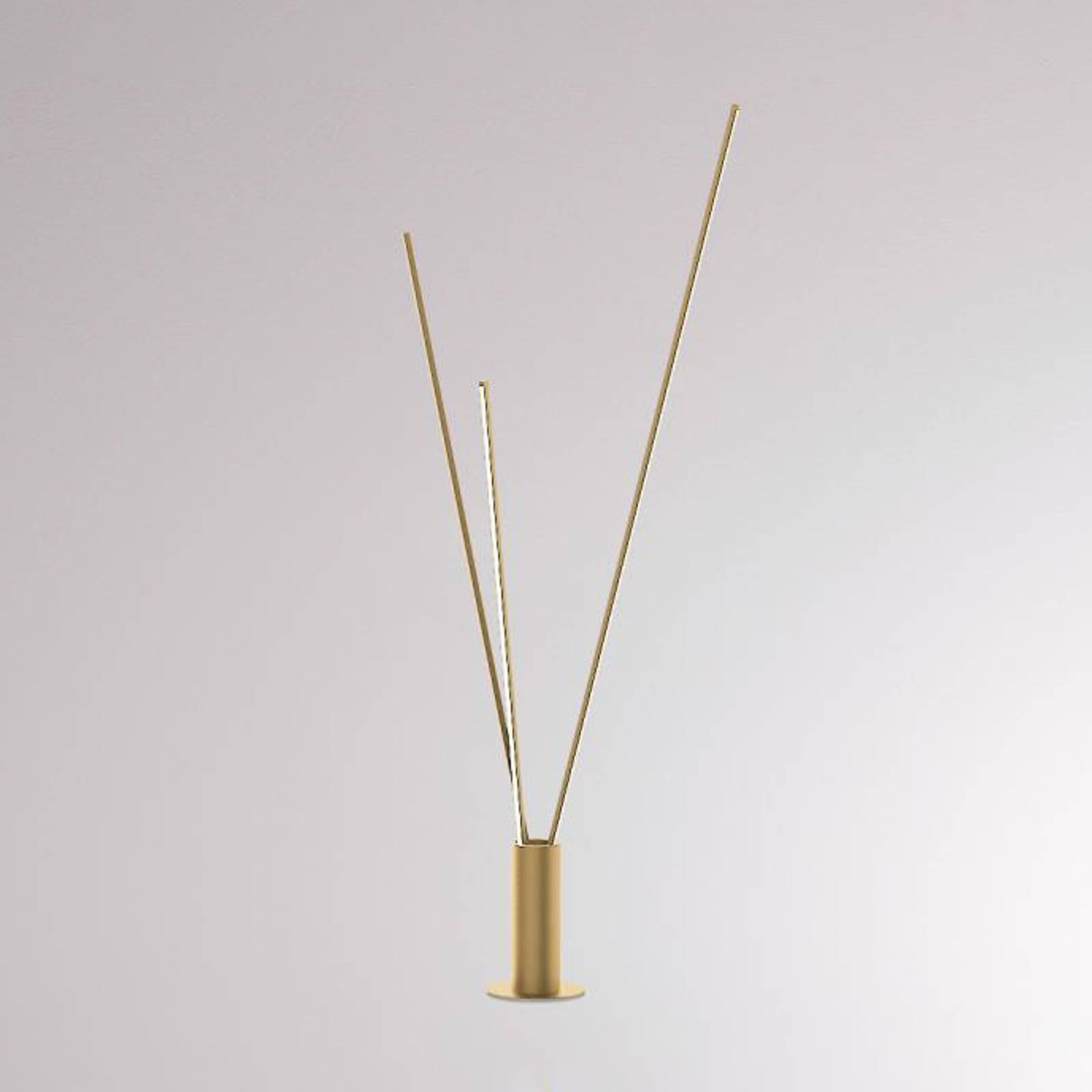 LOUM Trepole LED-Stehleuchte gold