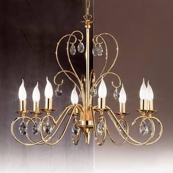 Lustre gracieux FIORETTO 8 lampes doré