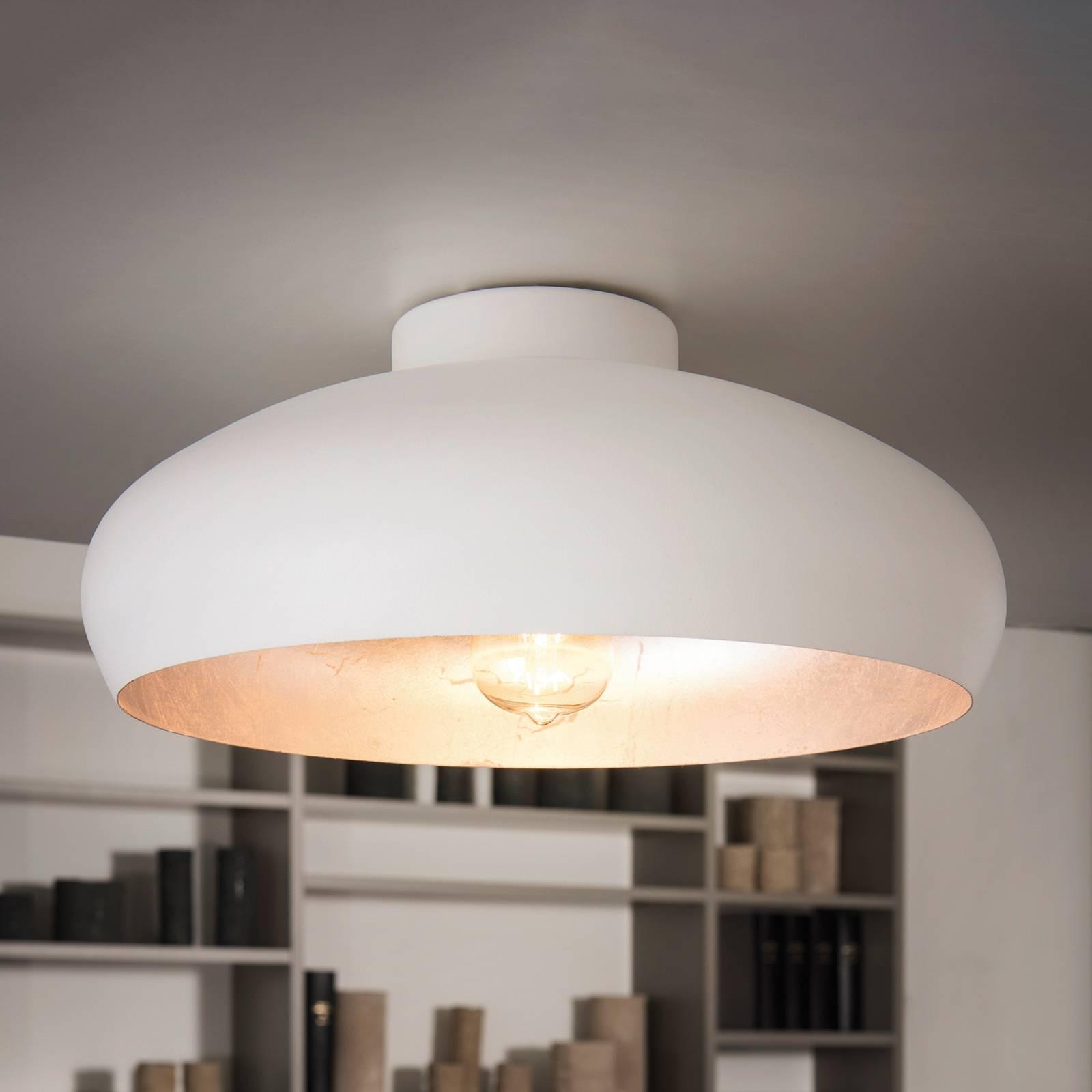 Wit-zilveren plafondlamp Mogano