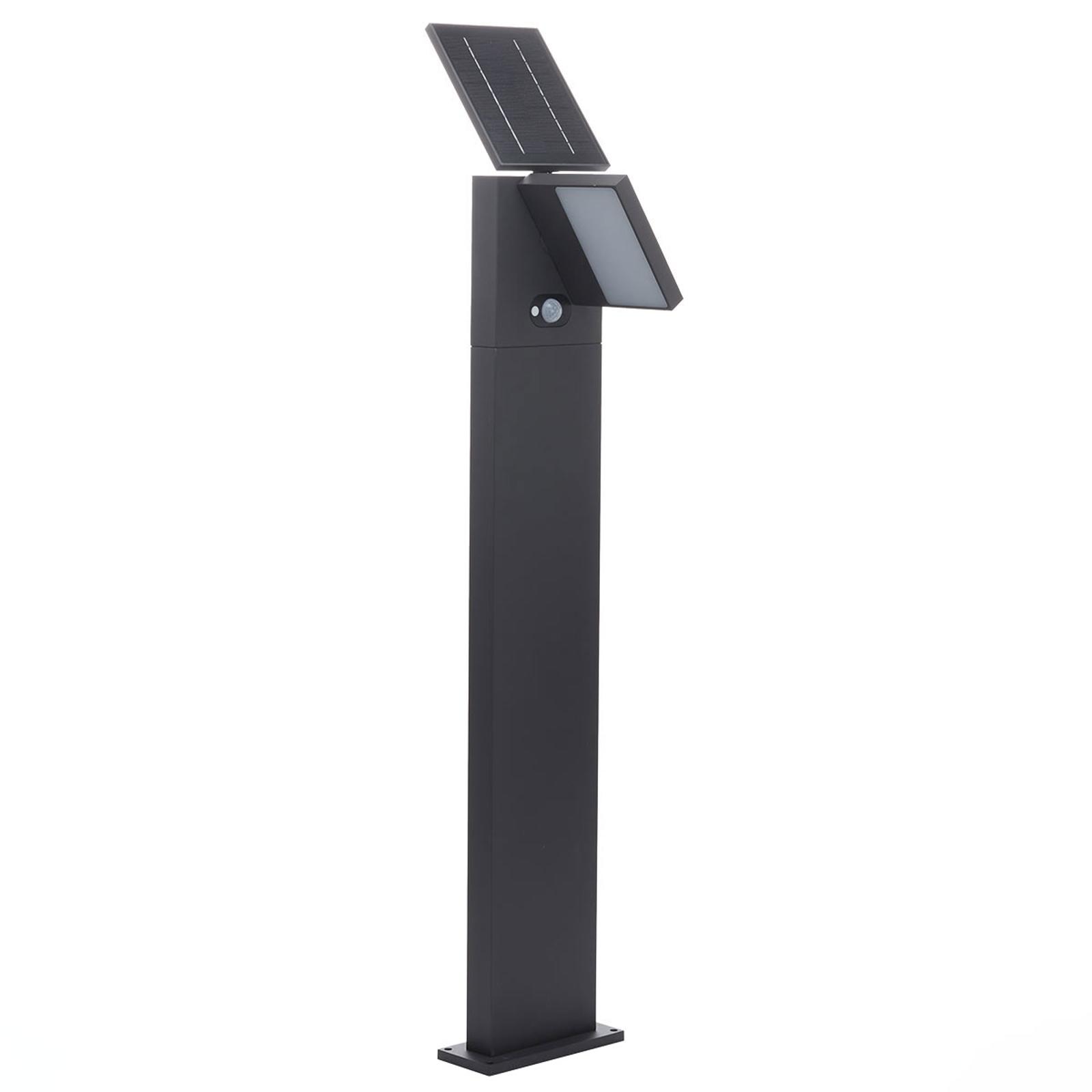 Aurinkokäyttöinen LED-pylväsvalaisin Silvan, 100