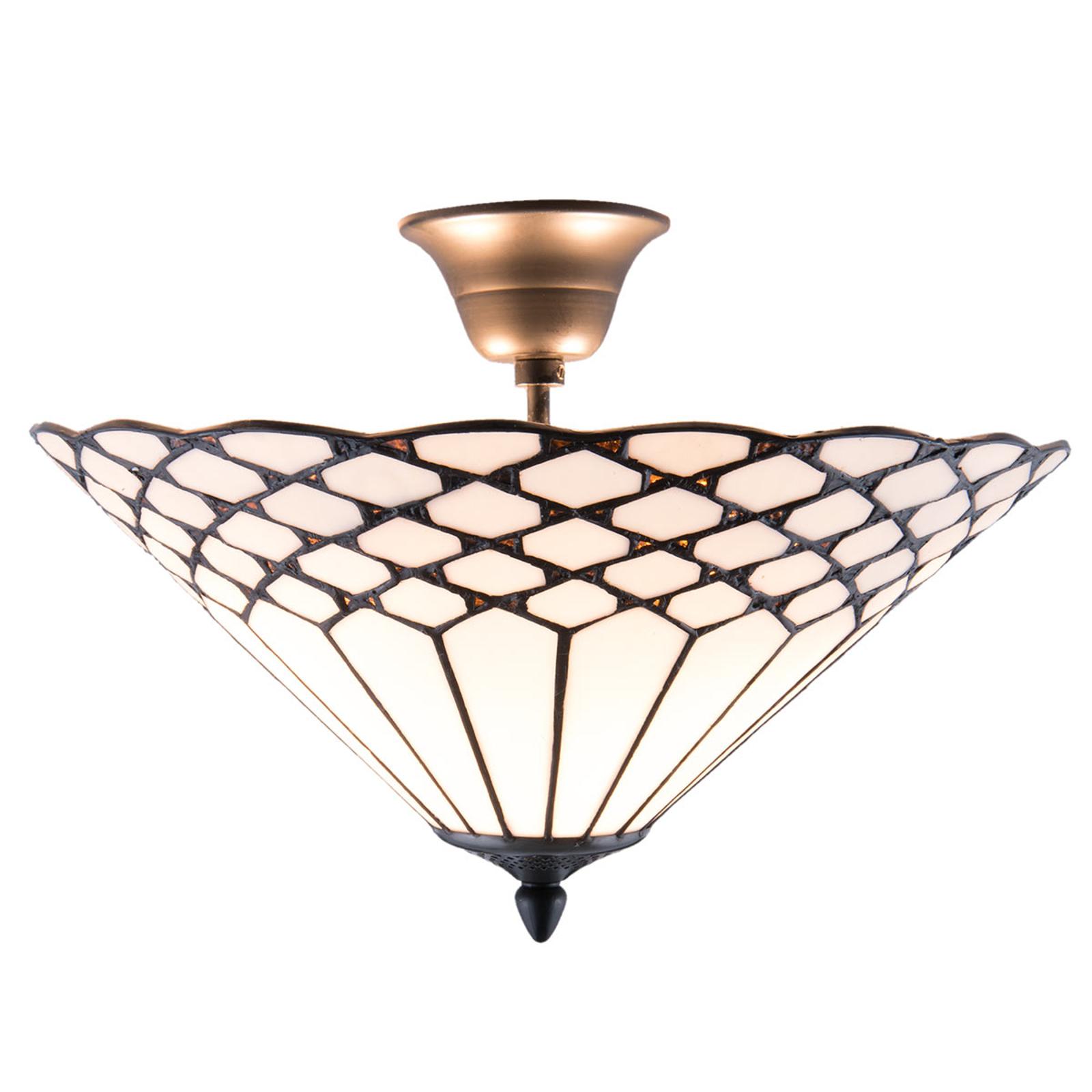Klasyczna lampa sufitowa Kisa, styl Tiffany