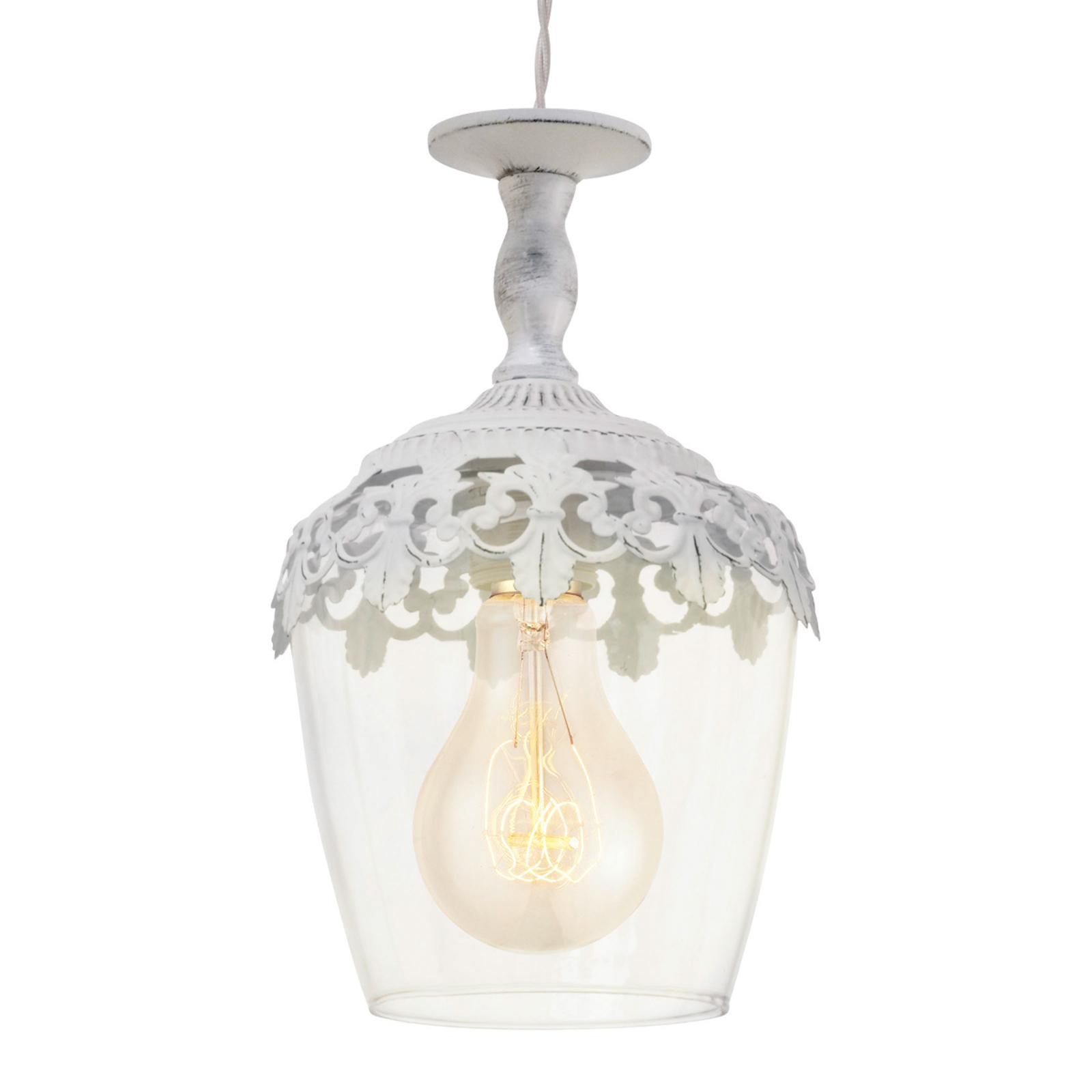 Florinia – biela patinovaná závesná lampa_3031594_1