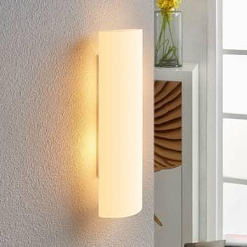 Biała, szklana lampa ścienna Ophelia