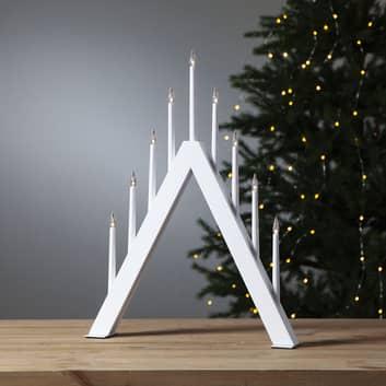 Jazz LED-vinduesstage, 9 lyskilder, spids, hvid