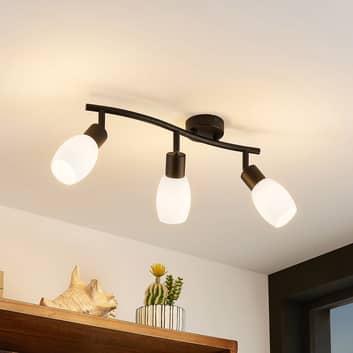 Lindby Ilmana-LED-kattokohdevalo 3 lamppua, pitkä