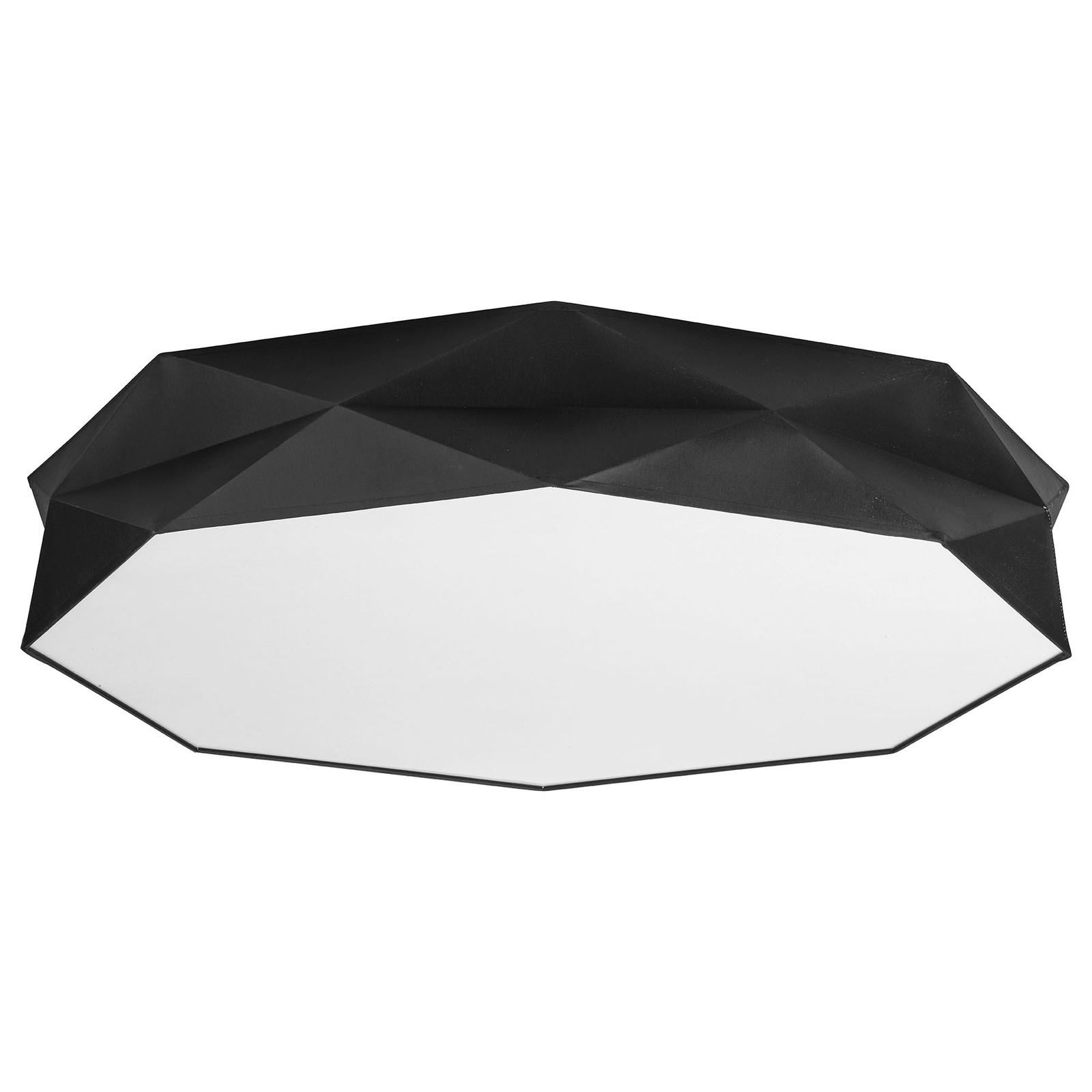 Taklampe Kantoor New, Ø 88 cm, hvit/svart