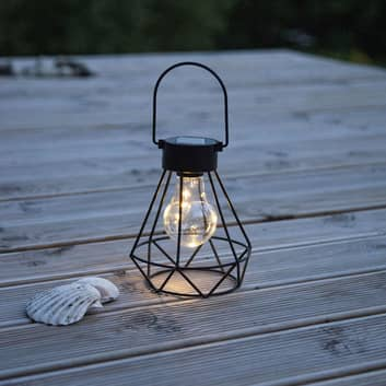 LED-solcellsdekorlykta Eddy med burskärm