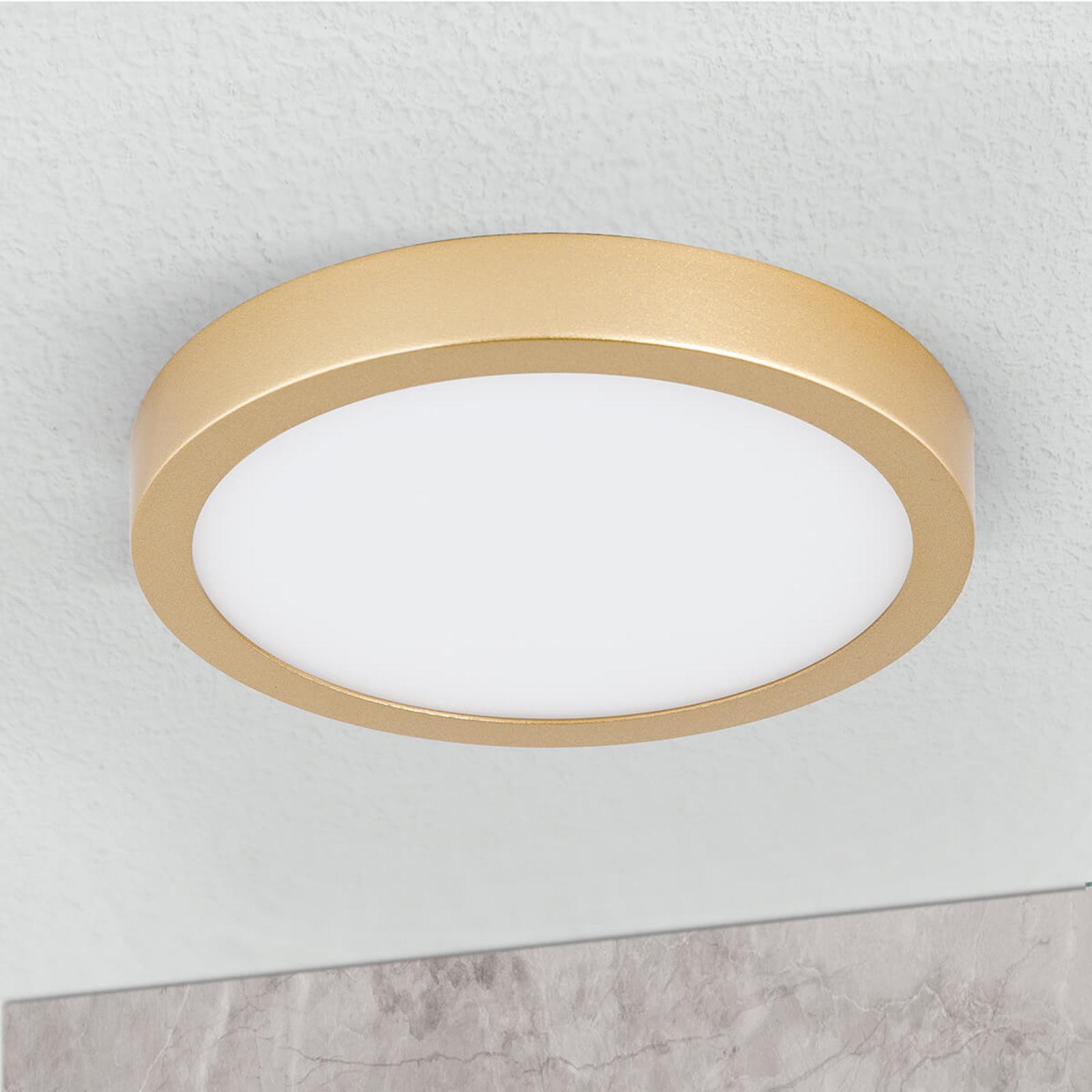 LED-Deckenleuchte Vika, rund, gold matt, Ø 18cm