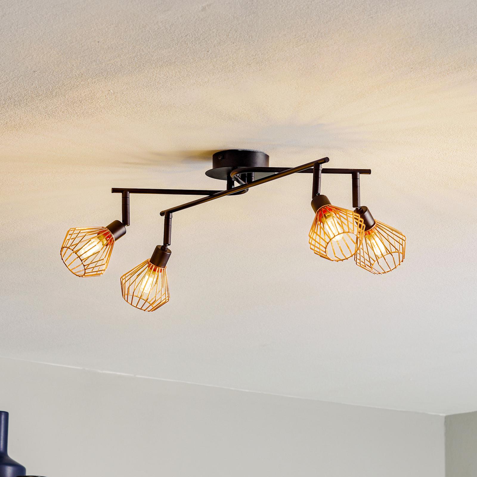 Lámpara de techo Dalma con 4 brazos