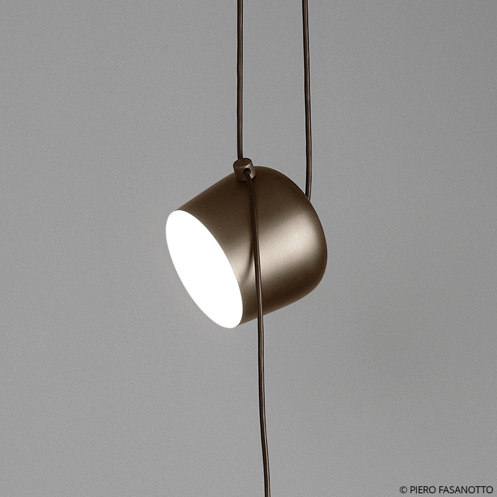 FLOS Aim lampada LED sospensione marrone con spina