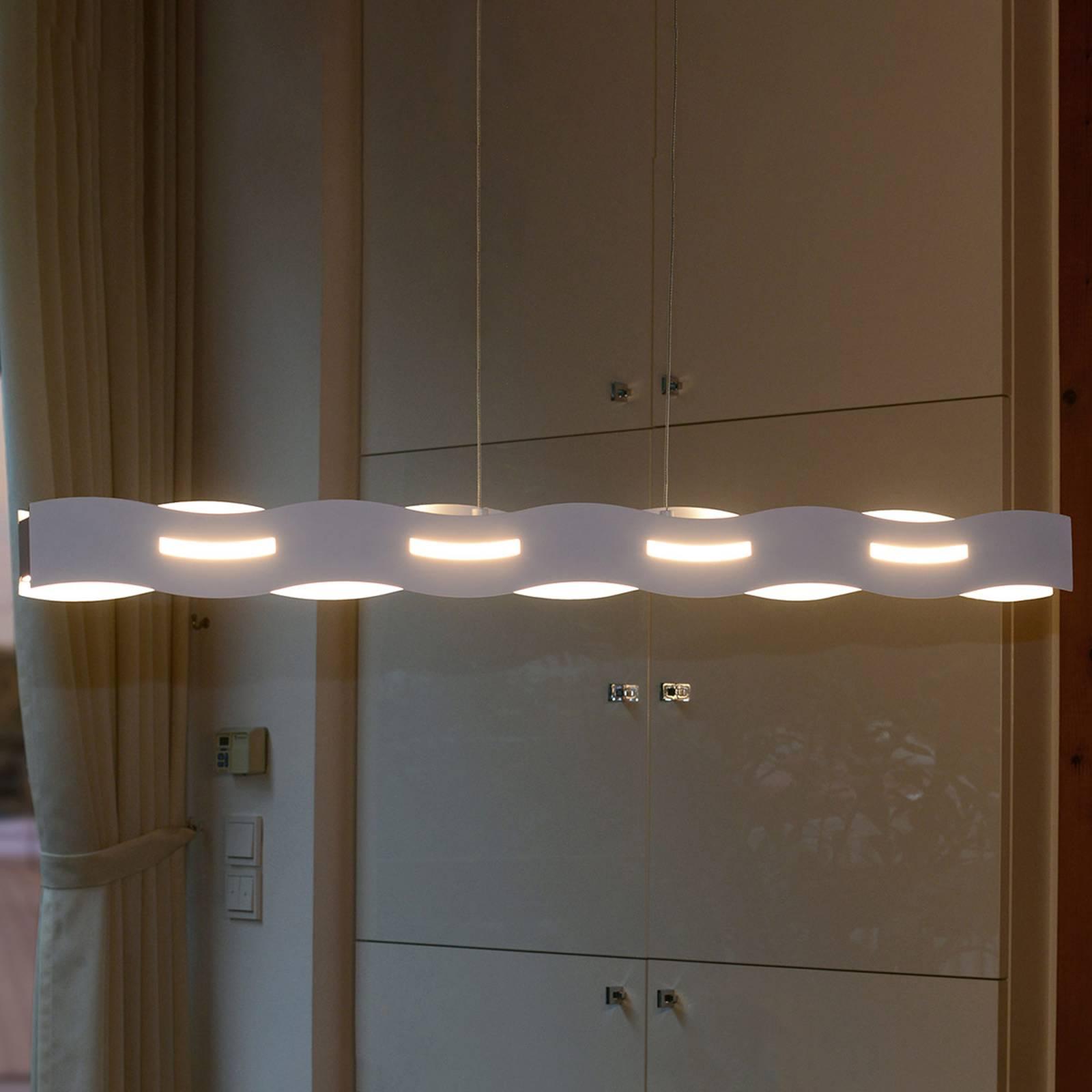 LED-Hängeleuchte Wave weiß