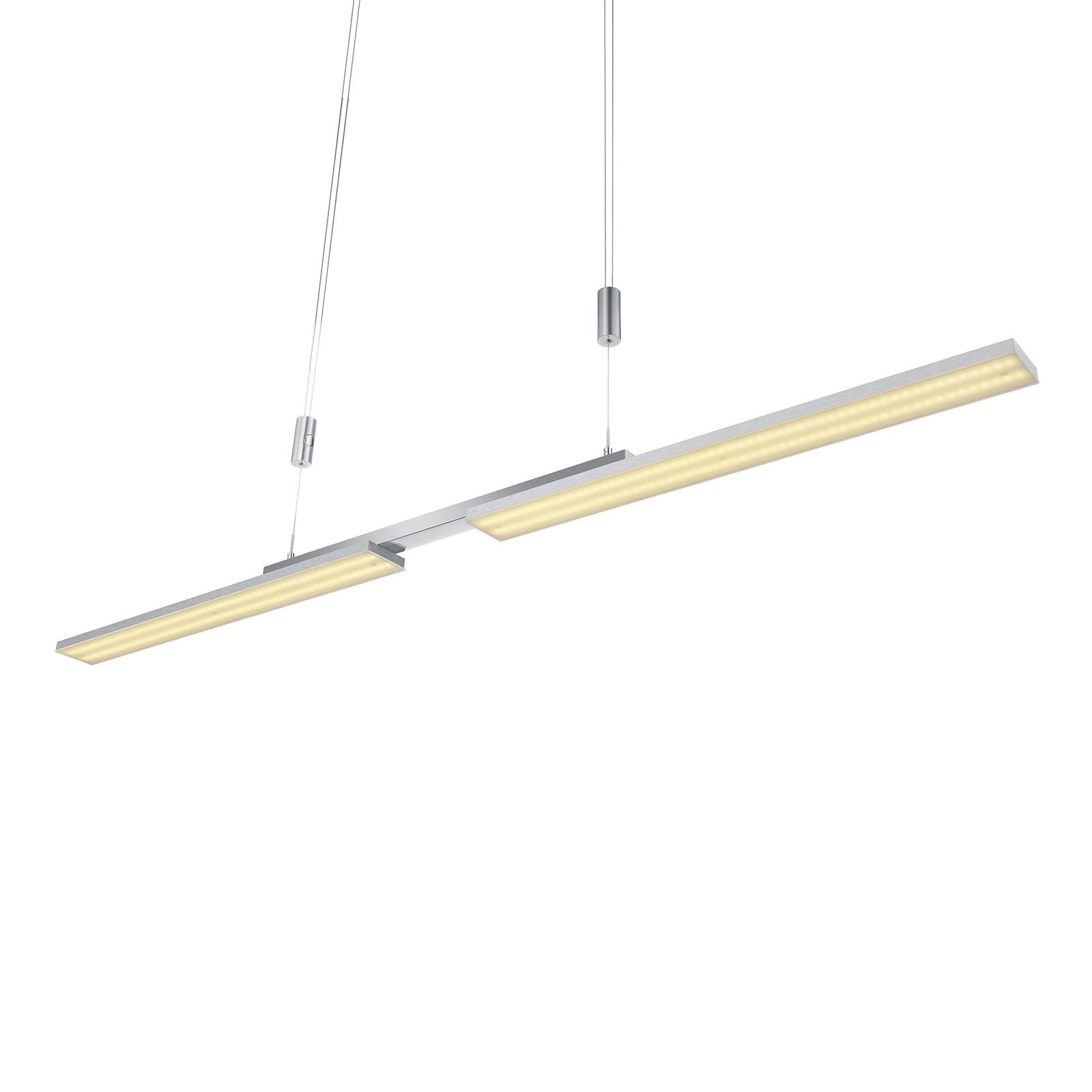 B-Leuchten Less LED hanglamp, mat nikkel
