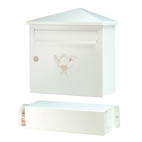 Lucio postkasse i hvid