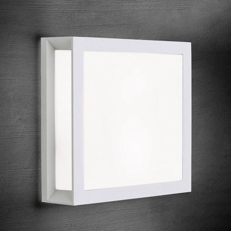 Applique d'extérieur carrée Henry en blanc