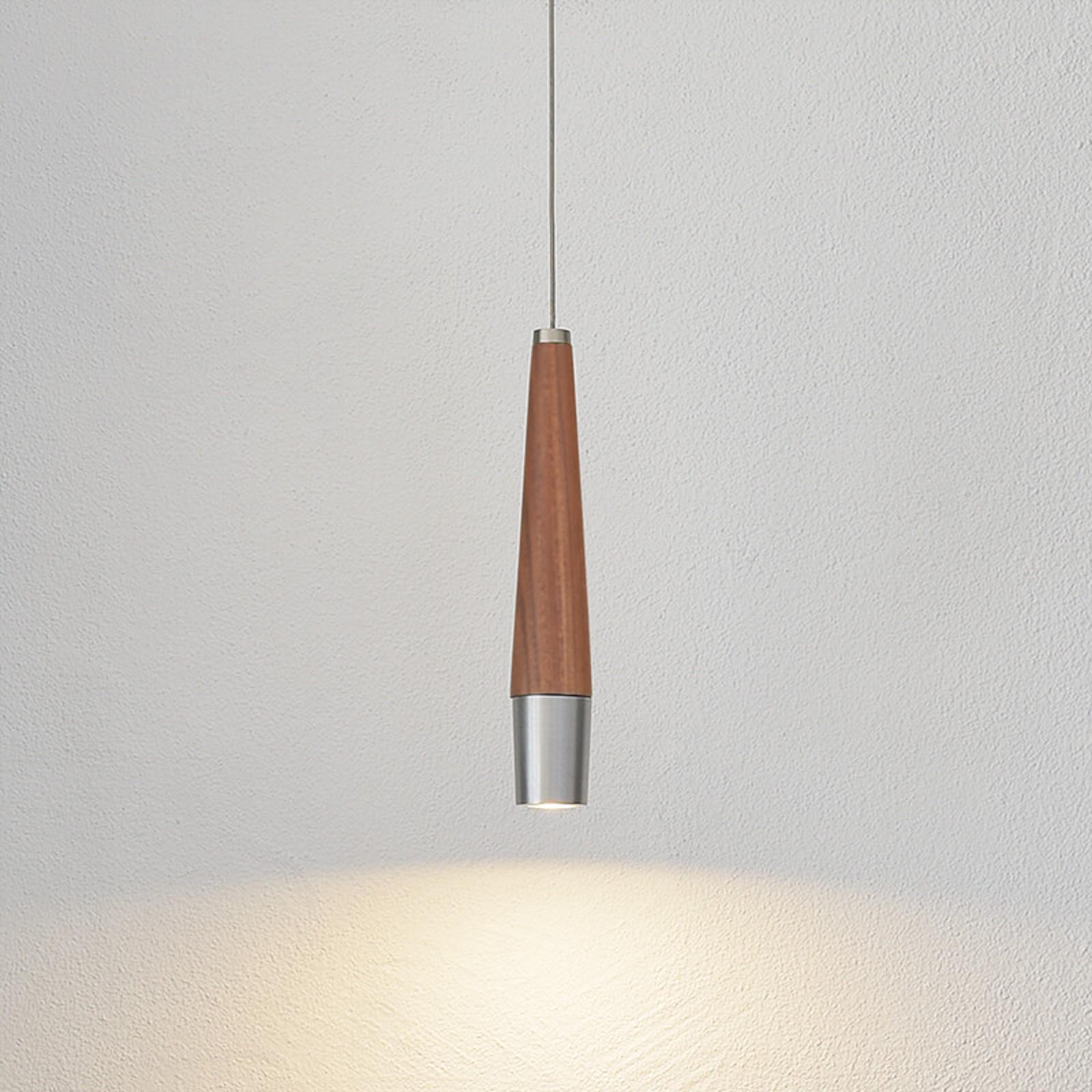 HerzBlut Conico LED-Hängelampe Nussbaum, 1-flammig