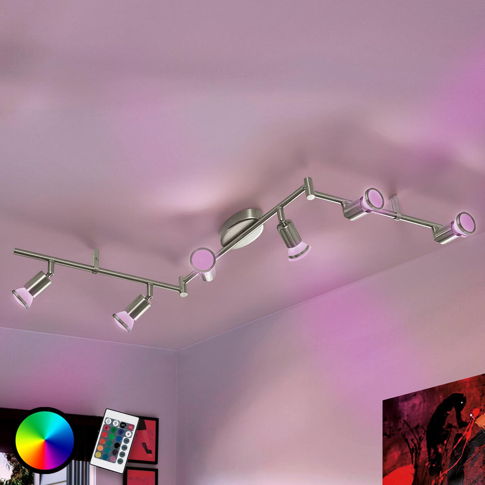 Gewinkelte Deckenleuchte Buzz-C LED RGBW