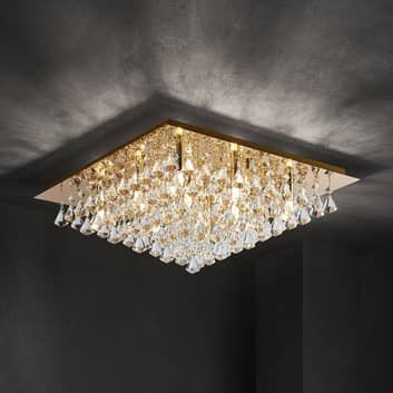 Lindby Rimedia lampa sufitowa, złota, 55 cm