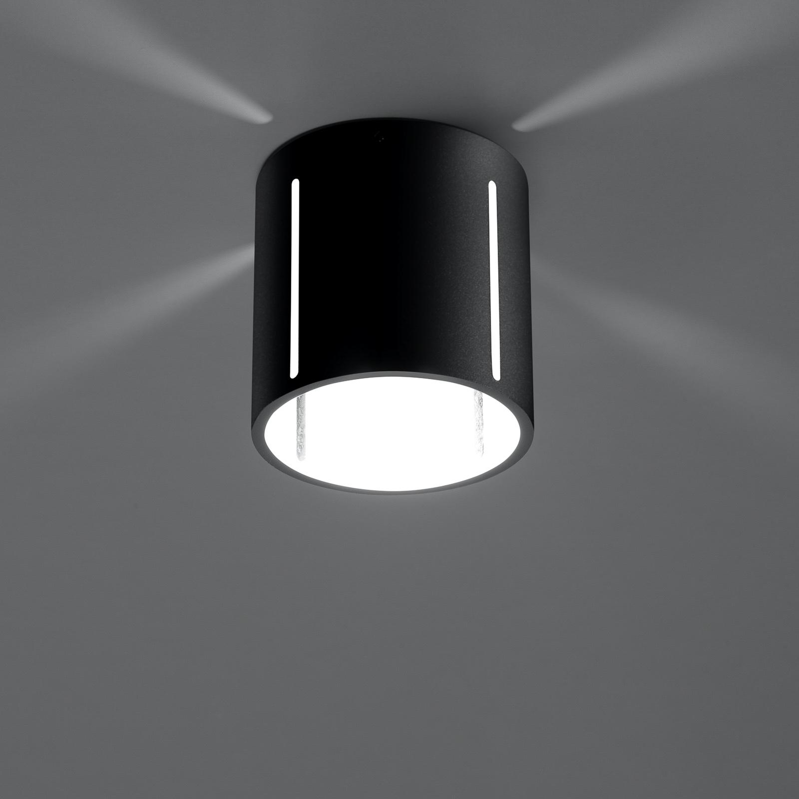 Lampa sufitowa Topa jako czarny cylinder