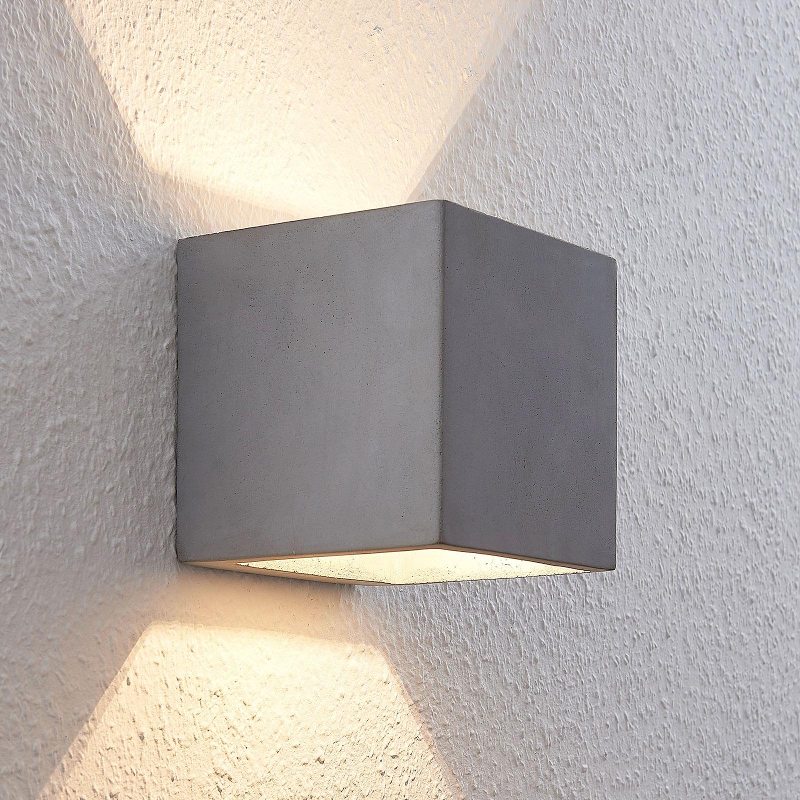 LED nástěnné světlo Keir z betonu