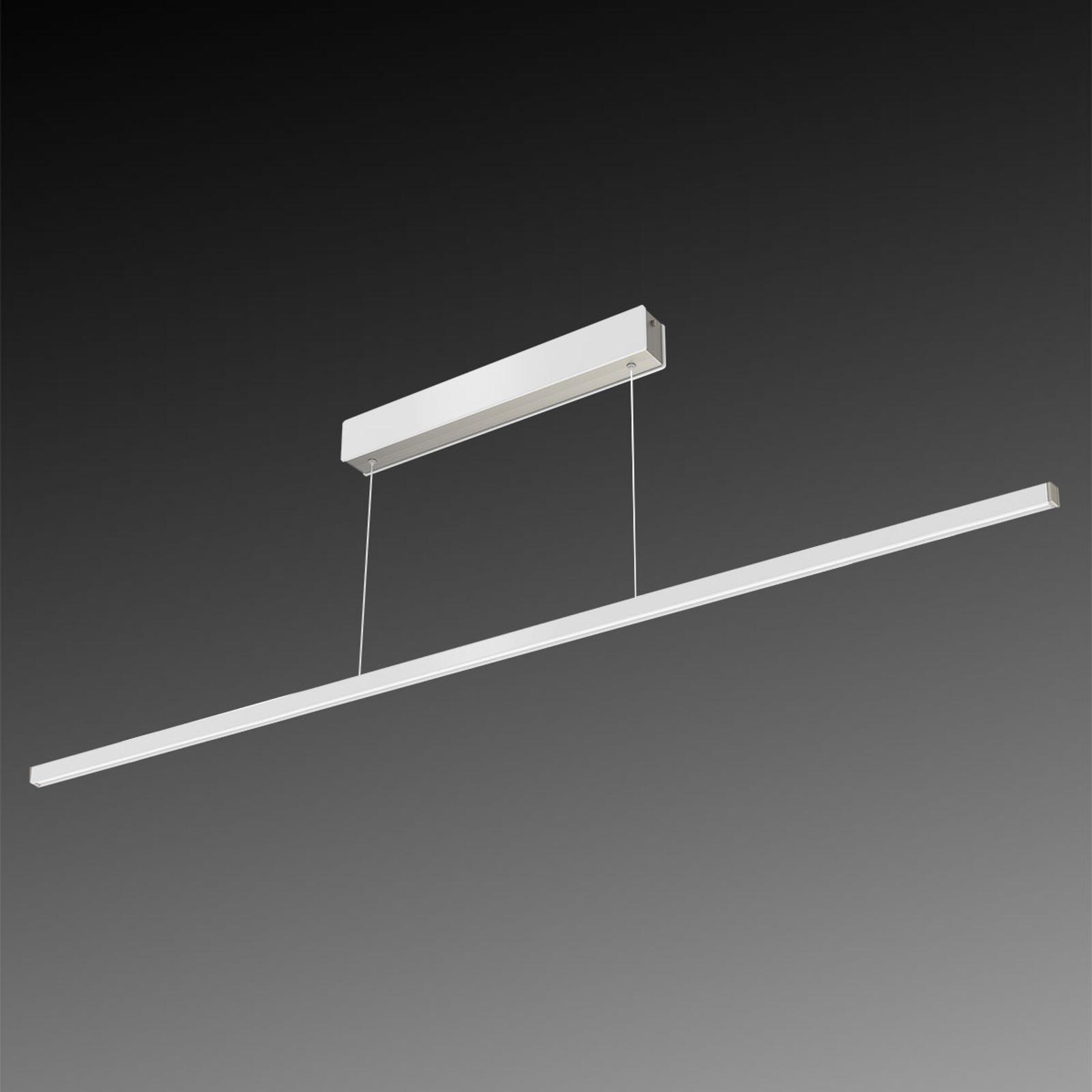 Lampa wisząca LED Orix, biała, 150 cm długości