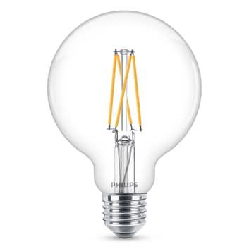 Philips E27 6W LED-globepære G95 klar dæmpbar 927