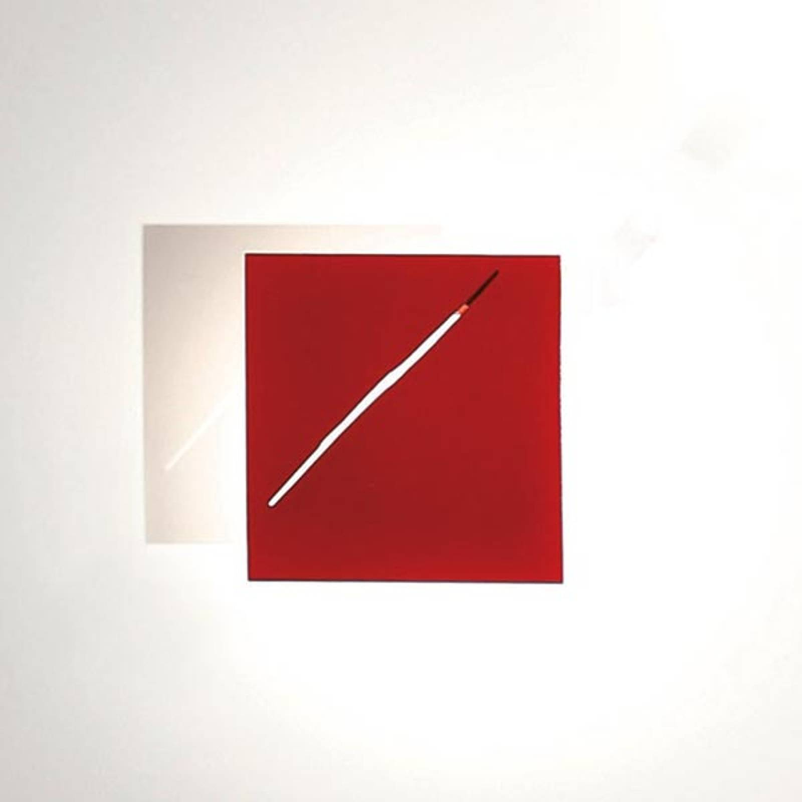 Knikerboker Des.agn - LED-Wandleuchte, rot