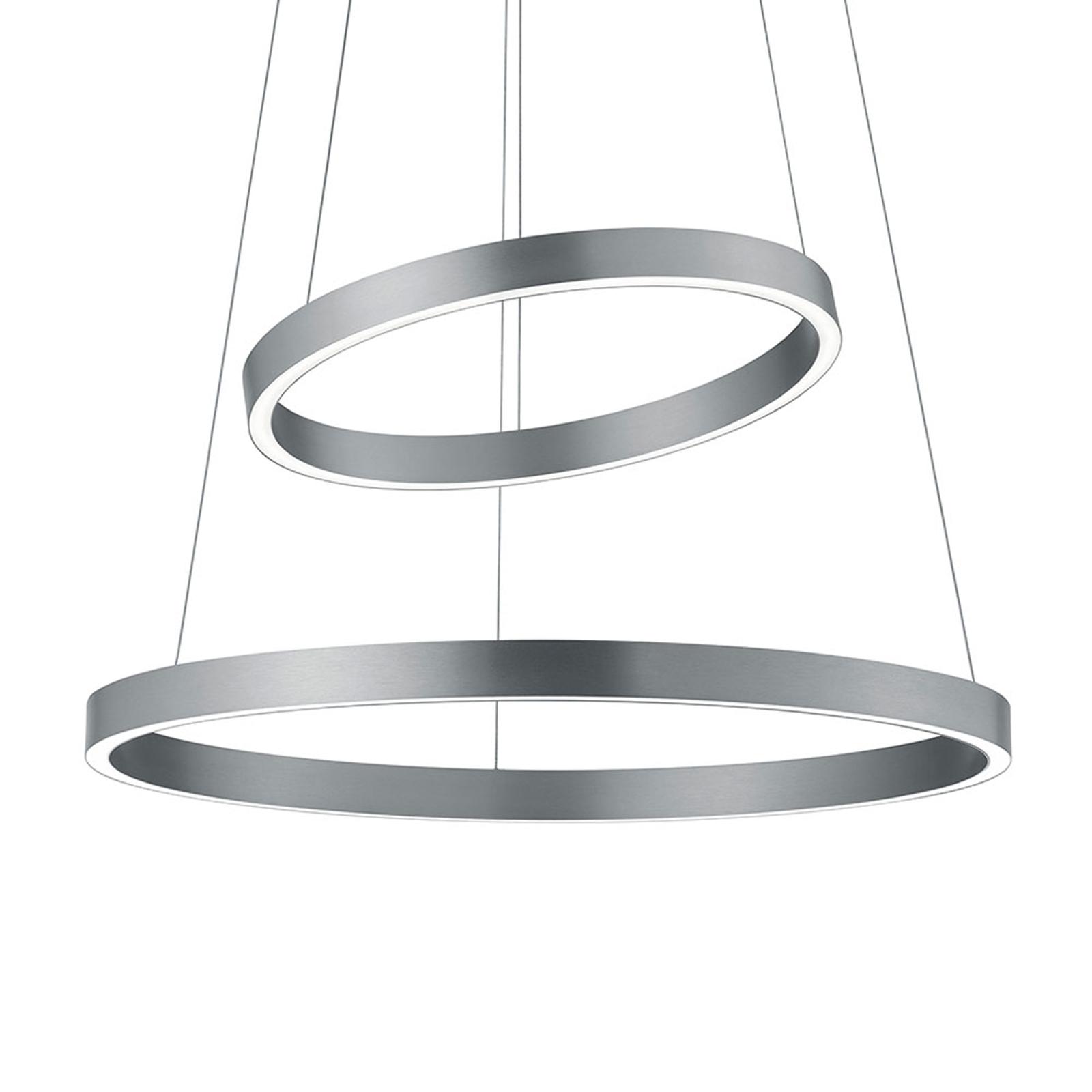 Suspension LED Lora-P nickel mat commande gestes
