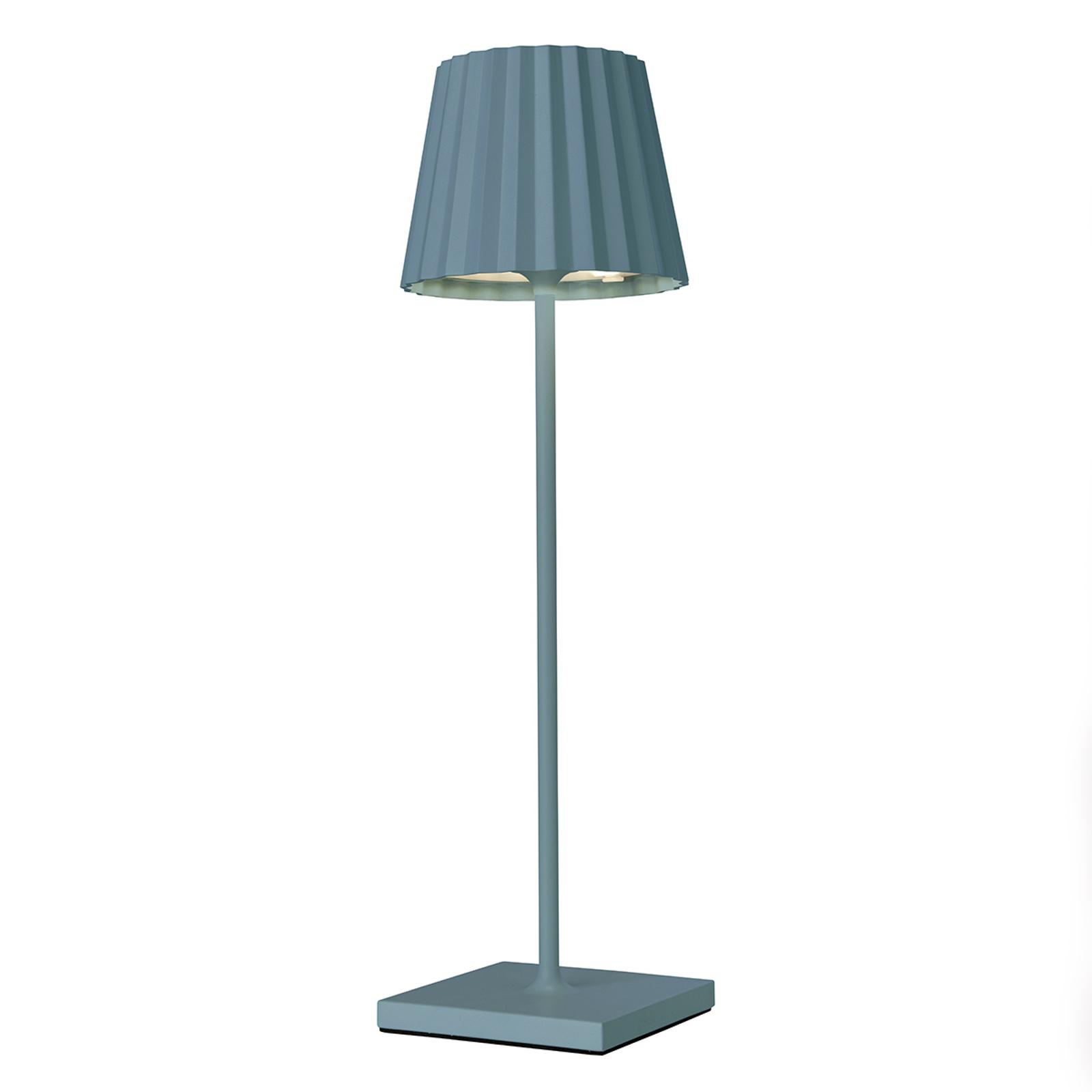 LED-pöytälamppu Troll 2.0 ulkokäyttöön, sininen
