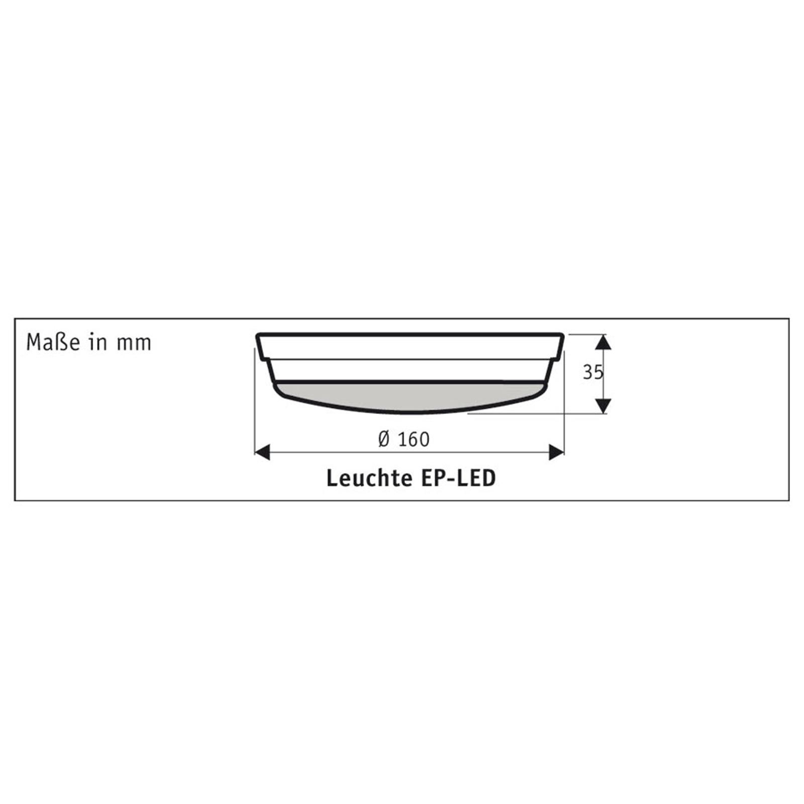 Luminaire LED pour Eco Plano II, chromé brossé