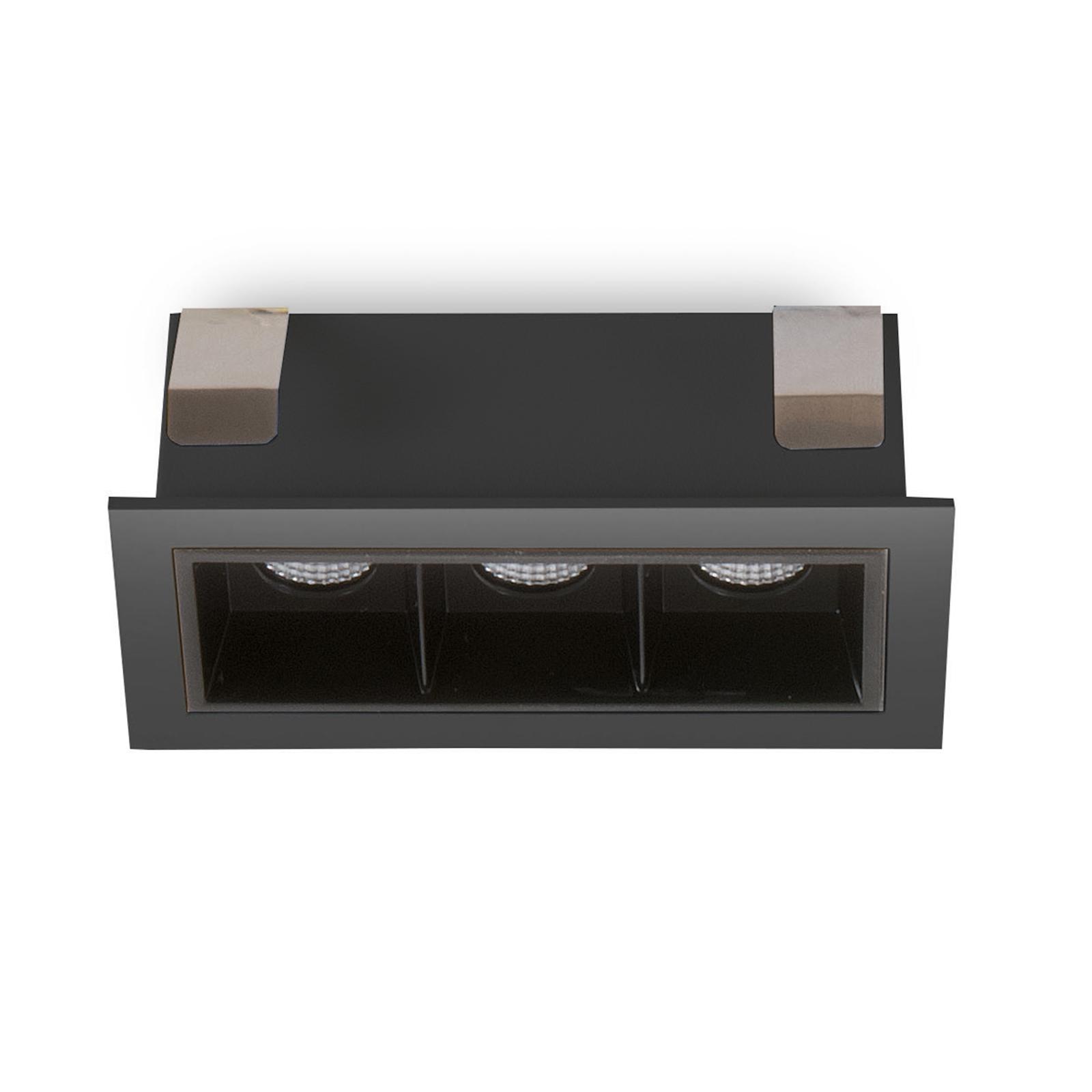 LED-Einbauspot Sound 3 30° mit Rahmen, schwarz