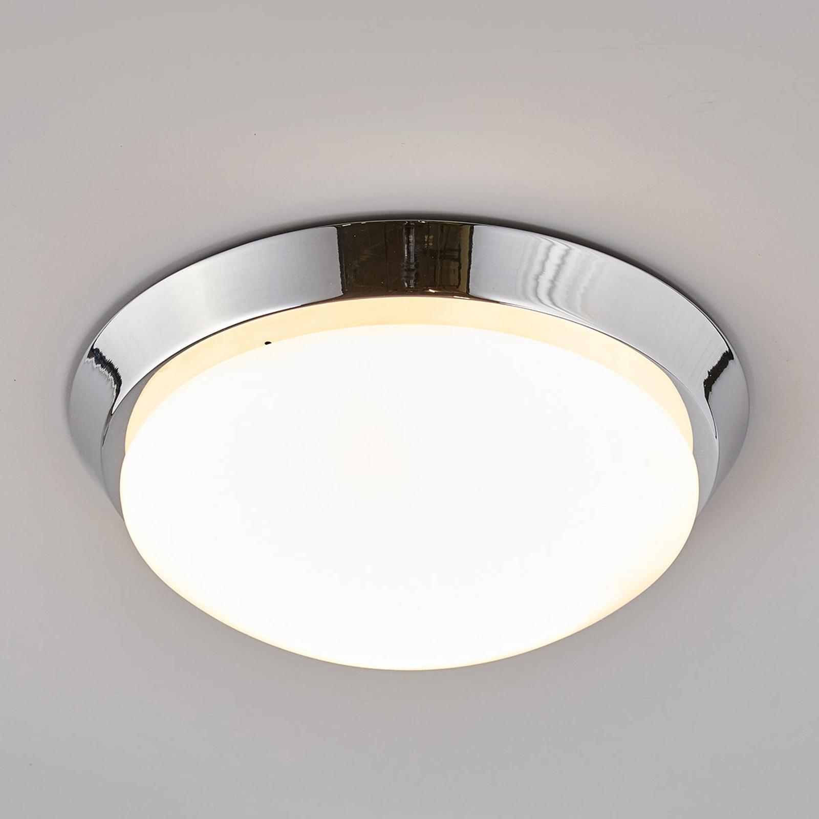 Okrągła lampa sufitowa Dilani do łazienki