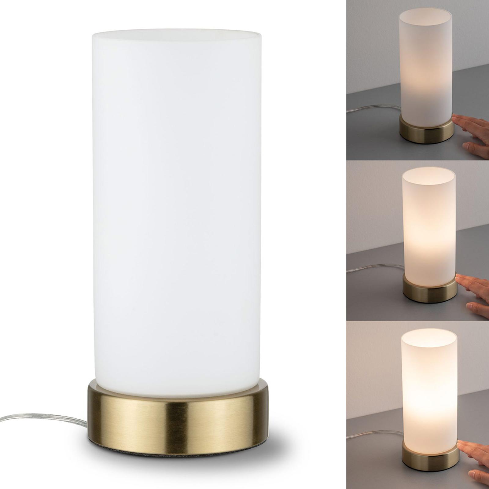 Paulmann lampe à poser Pinja laiton/opale