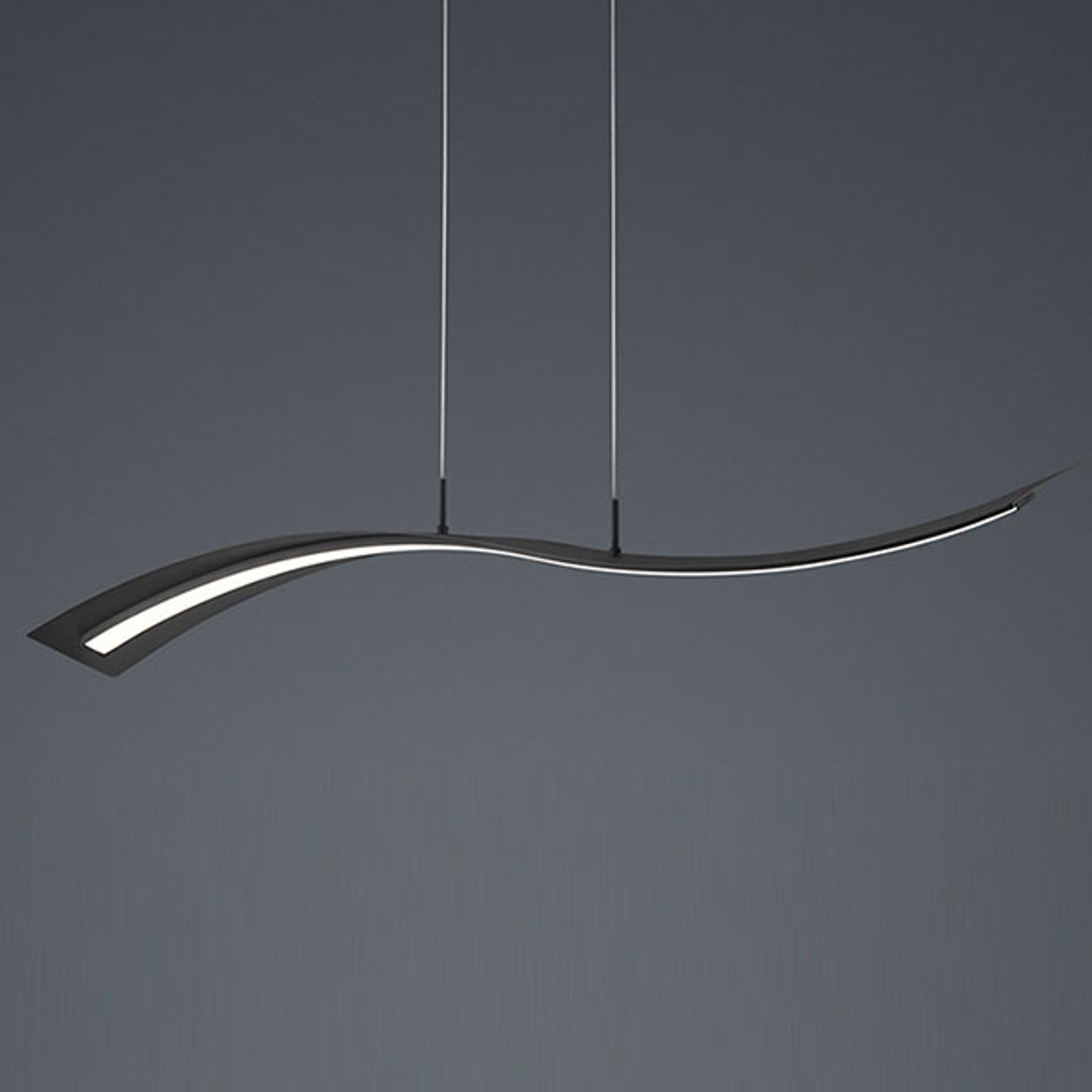 LED-pendellampe Salerno, SwitchDim, matt svart