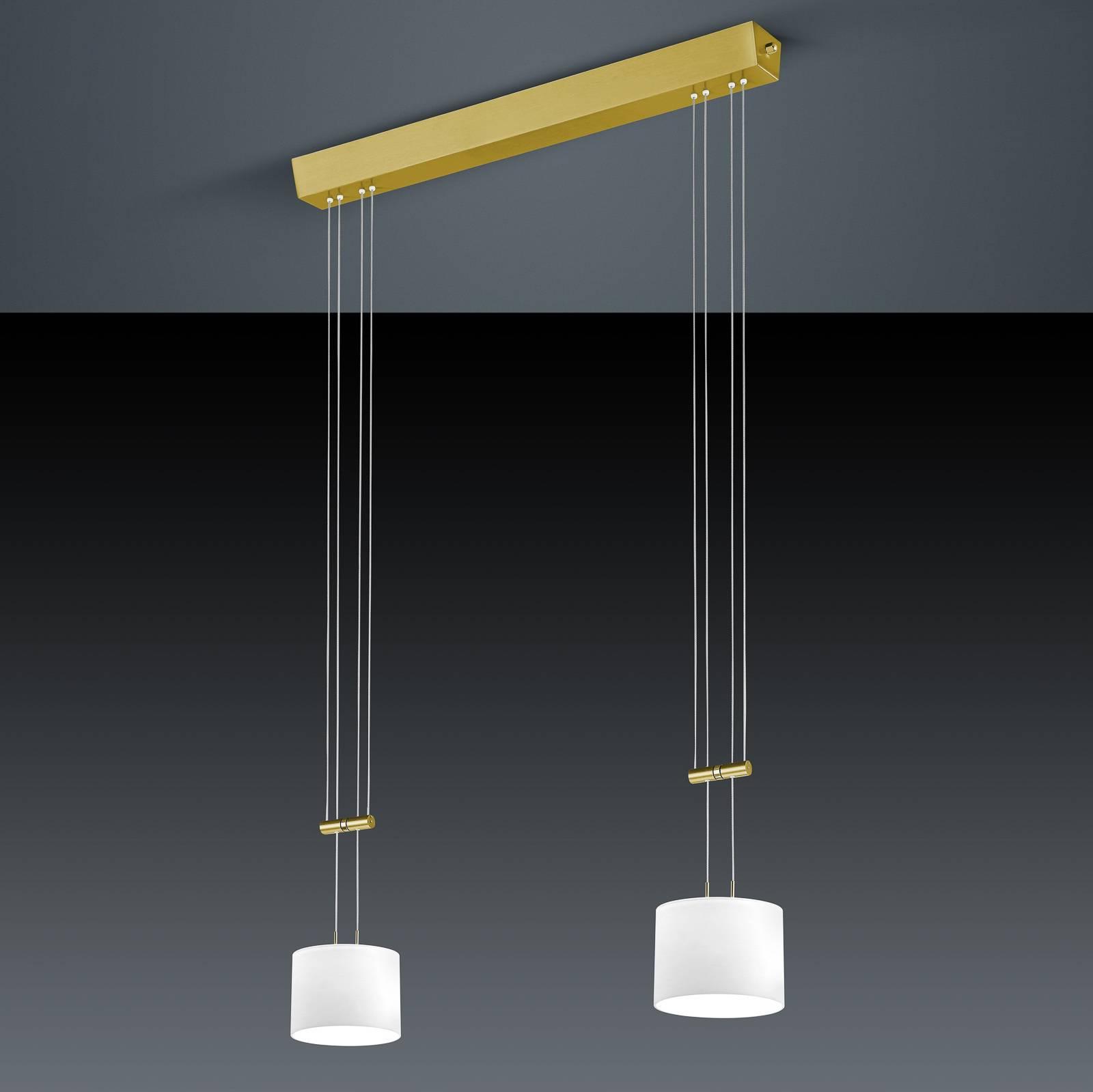 BANKAMP Grazia suspension ZigBee 2 lampes laiton