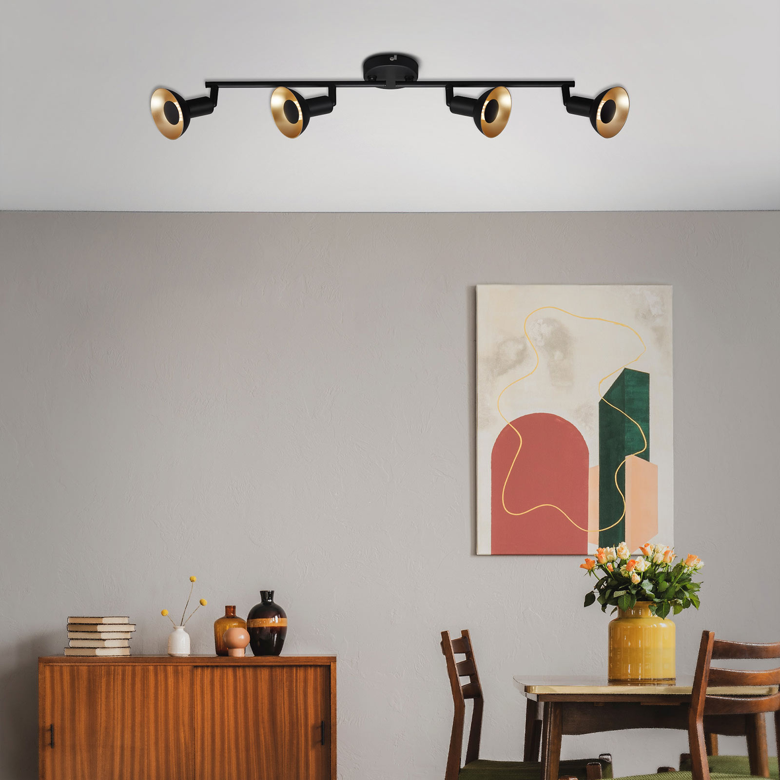 LED plafondlamp Kukui, 4-lamps