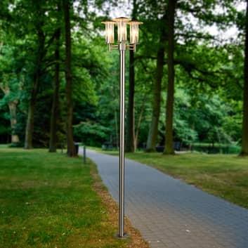 Modern stolplampa Filko, tre ljuskällor