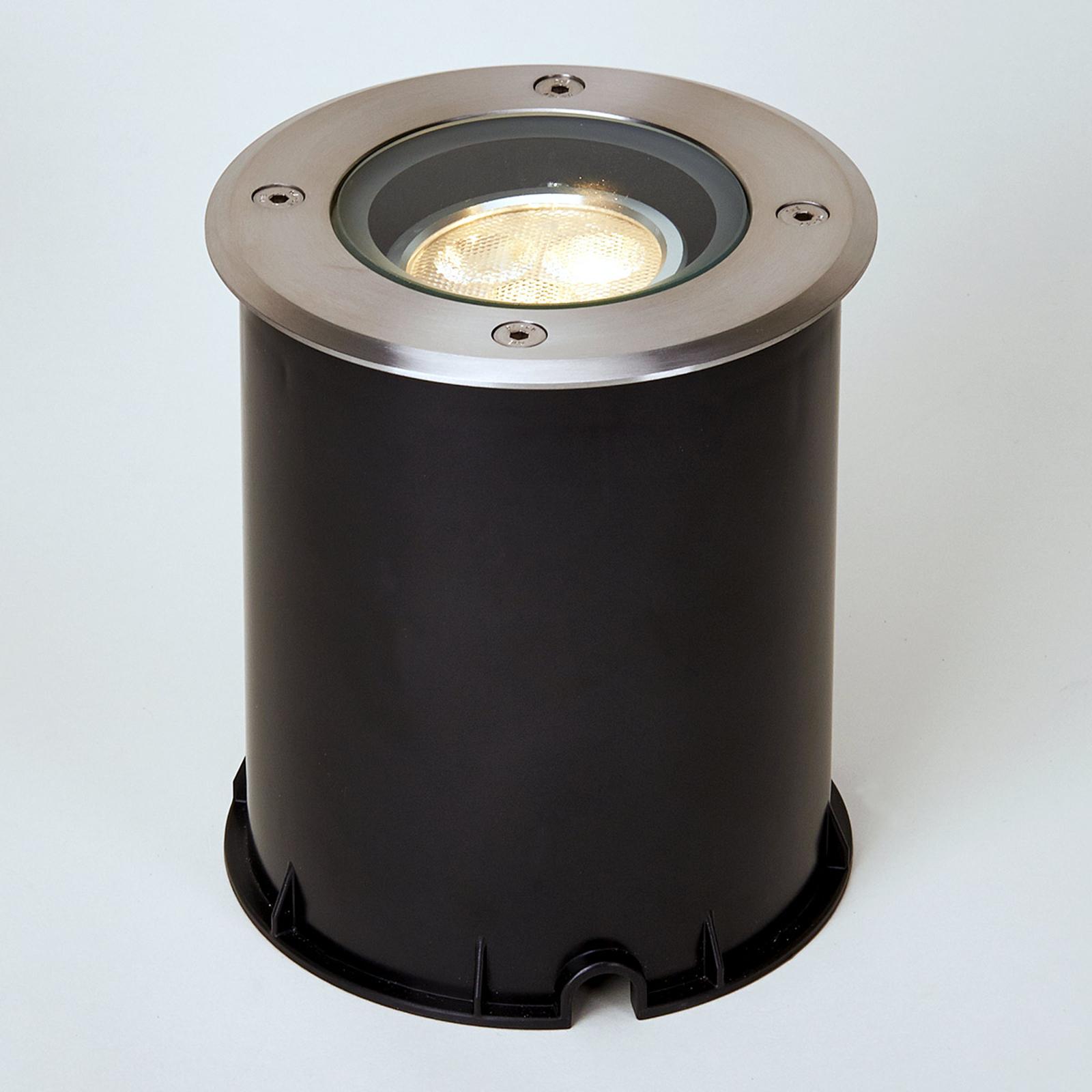 Lampada a pavimento, LED, oscill., IP67